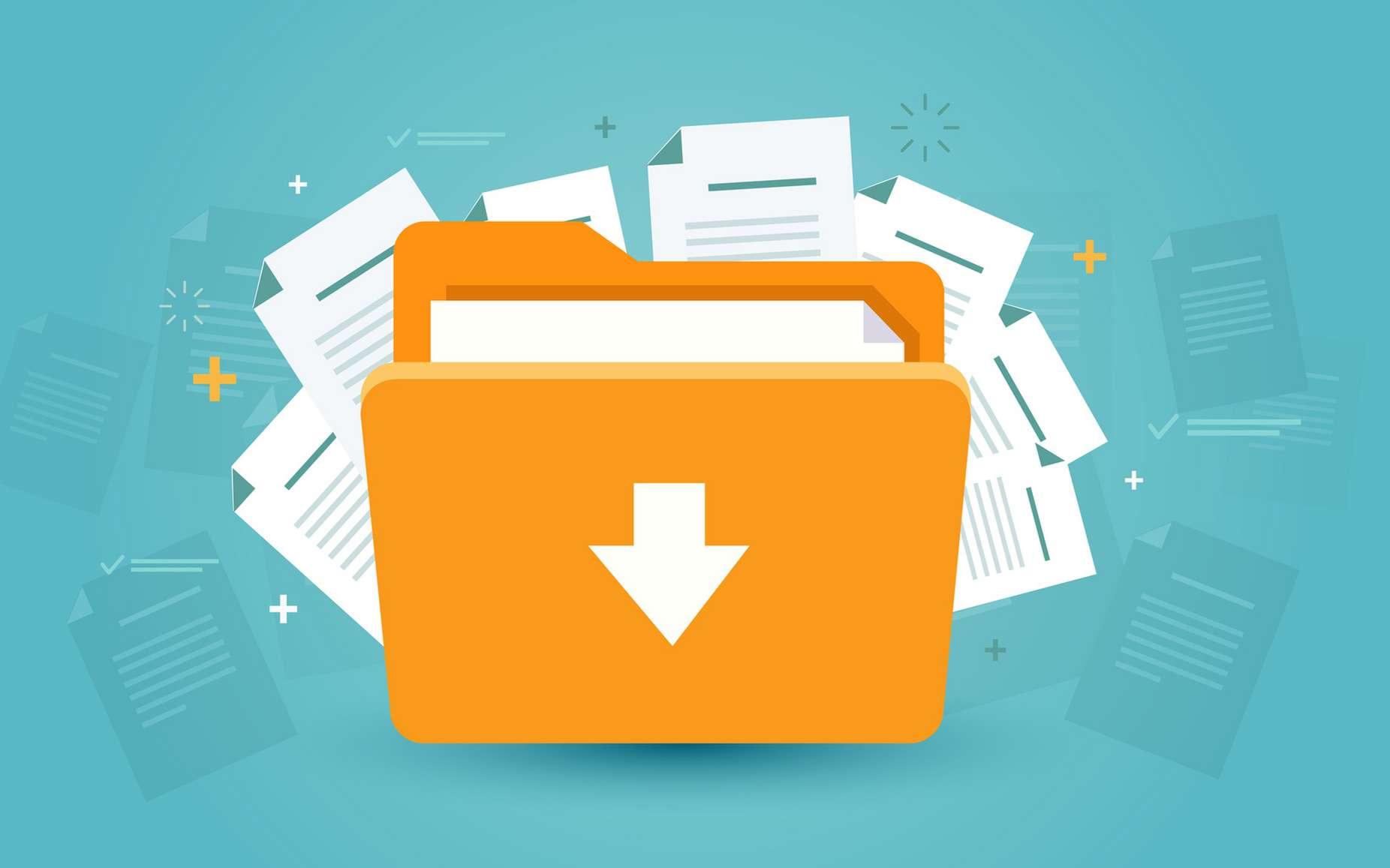 Le fichier Zip, utile, pour compresser les documents. © Julien Eichinger