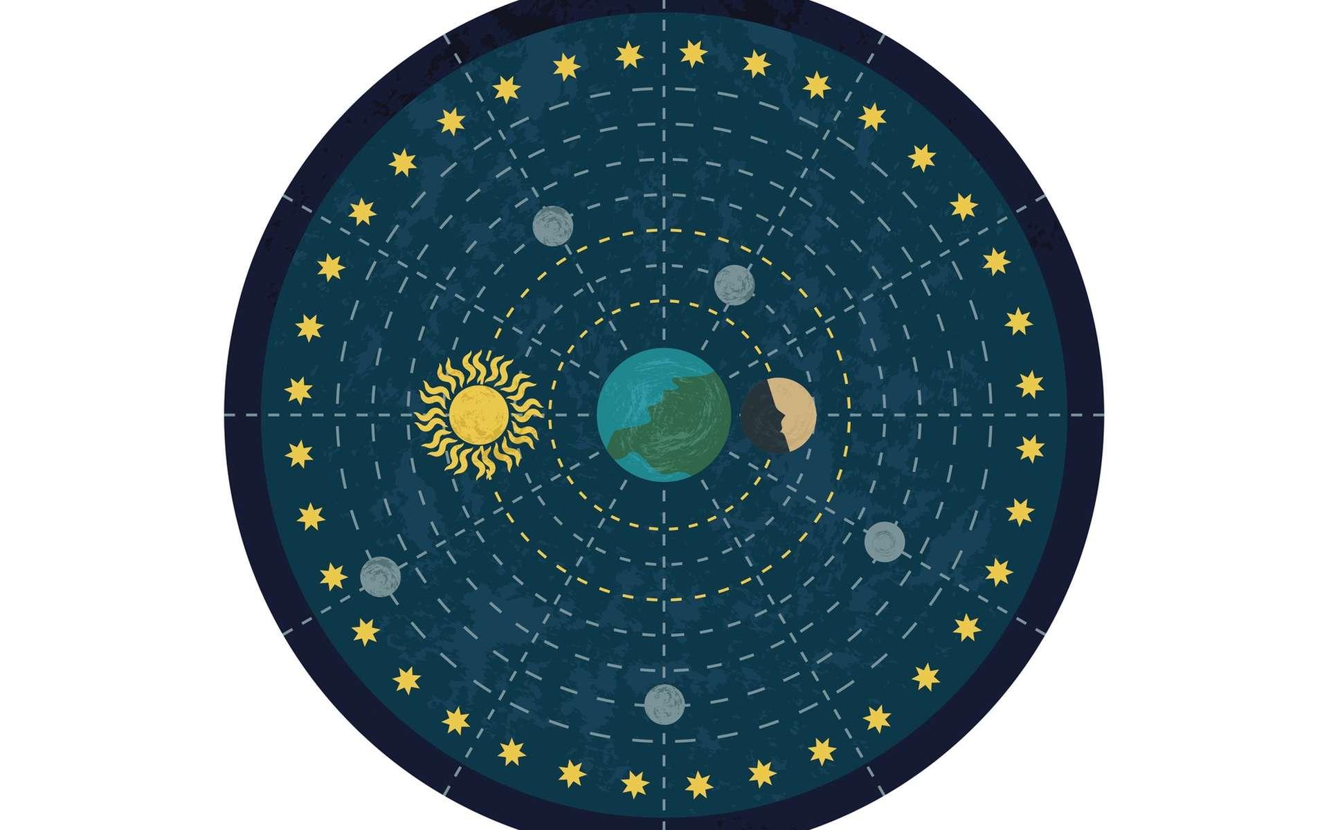 Une représentation du système géocentrique. © valentinakru, fotolia