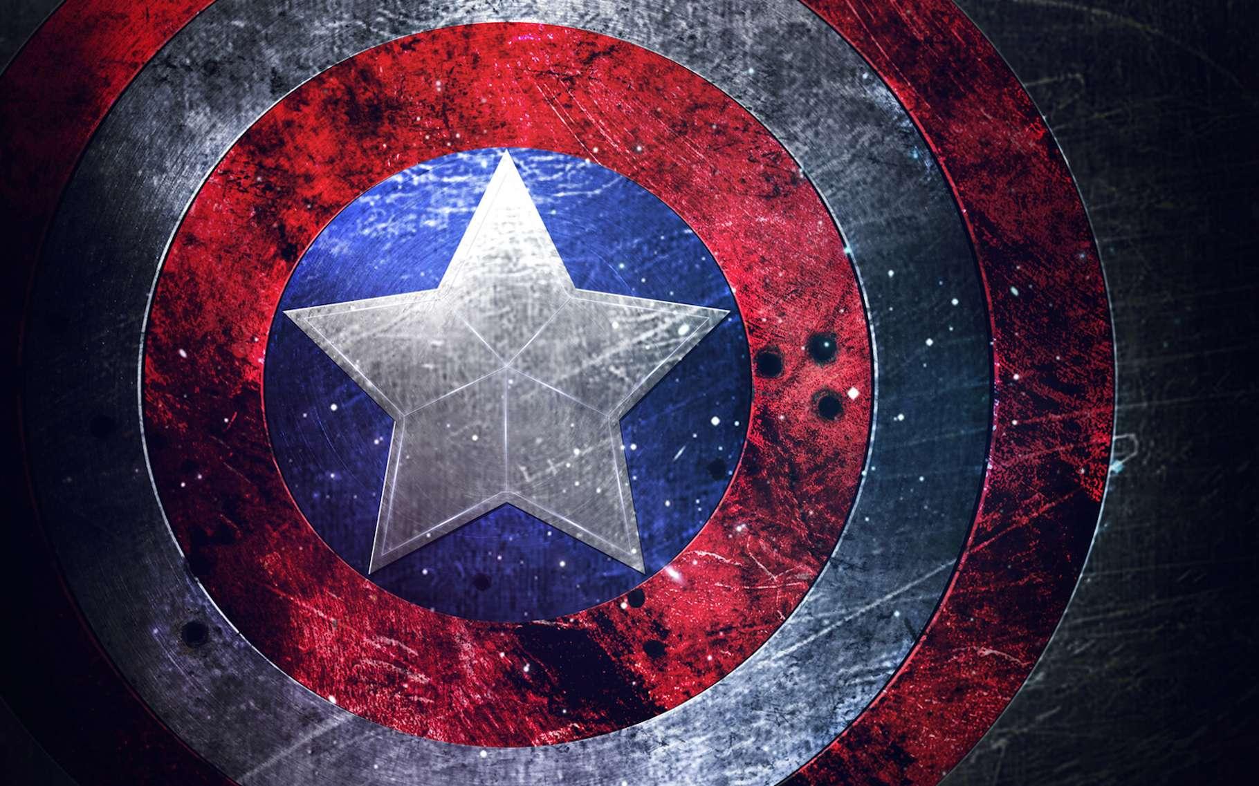 Le bouclier de Captain America est réputé indestructible. Et des chercheurs pensent avoir trouvé le moyen de produire un alliage dont les propriétés physiques se rapprochent de celles de ce bouclier légendaire. © pechanka_123, Fotolia