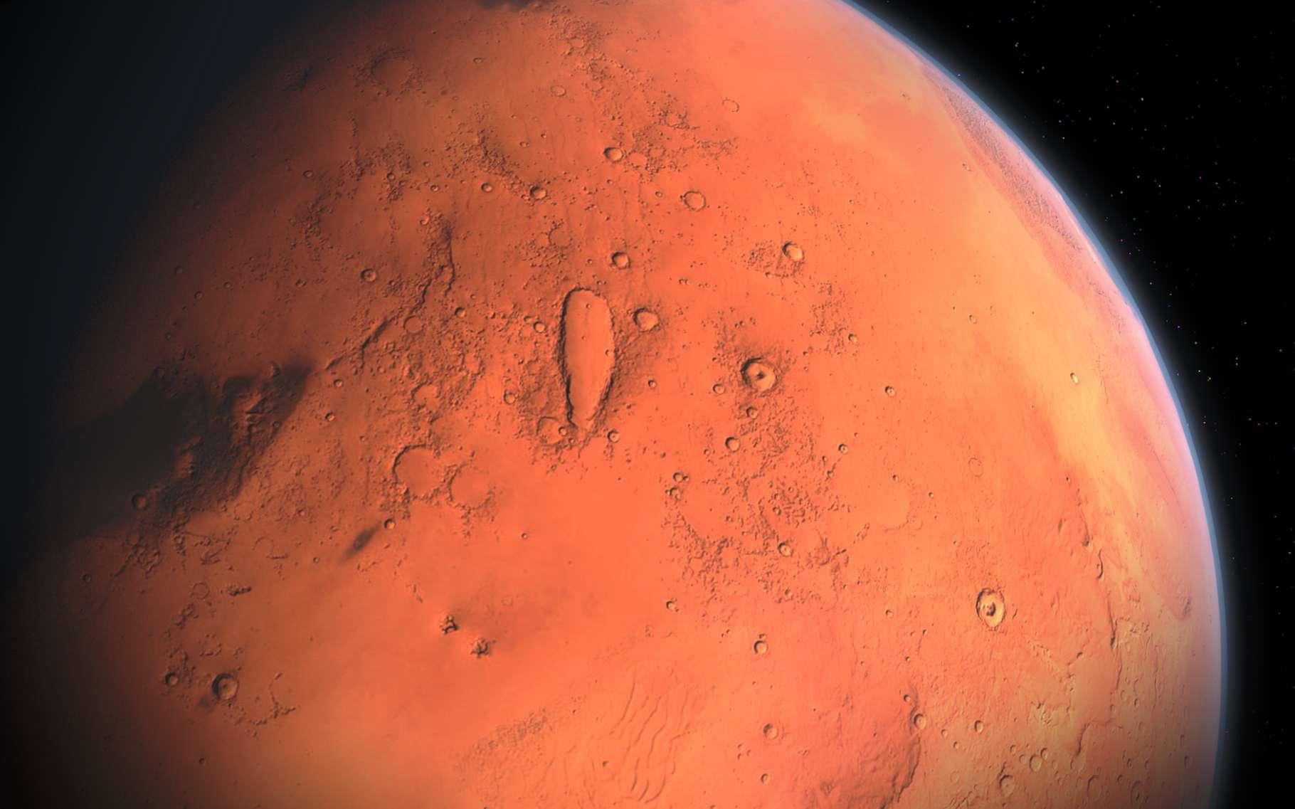 Des astronomes ont observé dans la tempête globale qui a balayé Mars en 2018, un phénomène qui pourrait être à l'origine de la disparition de l'eau sur la planète : les tours de poussière. © Aynur_zakirov, Pixabay License