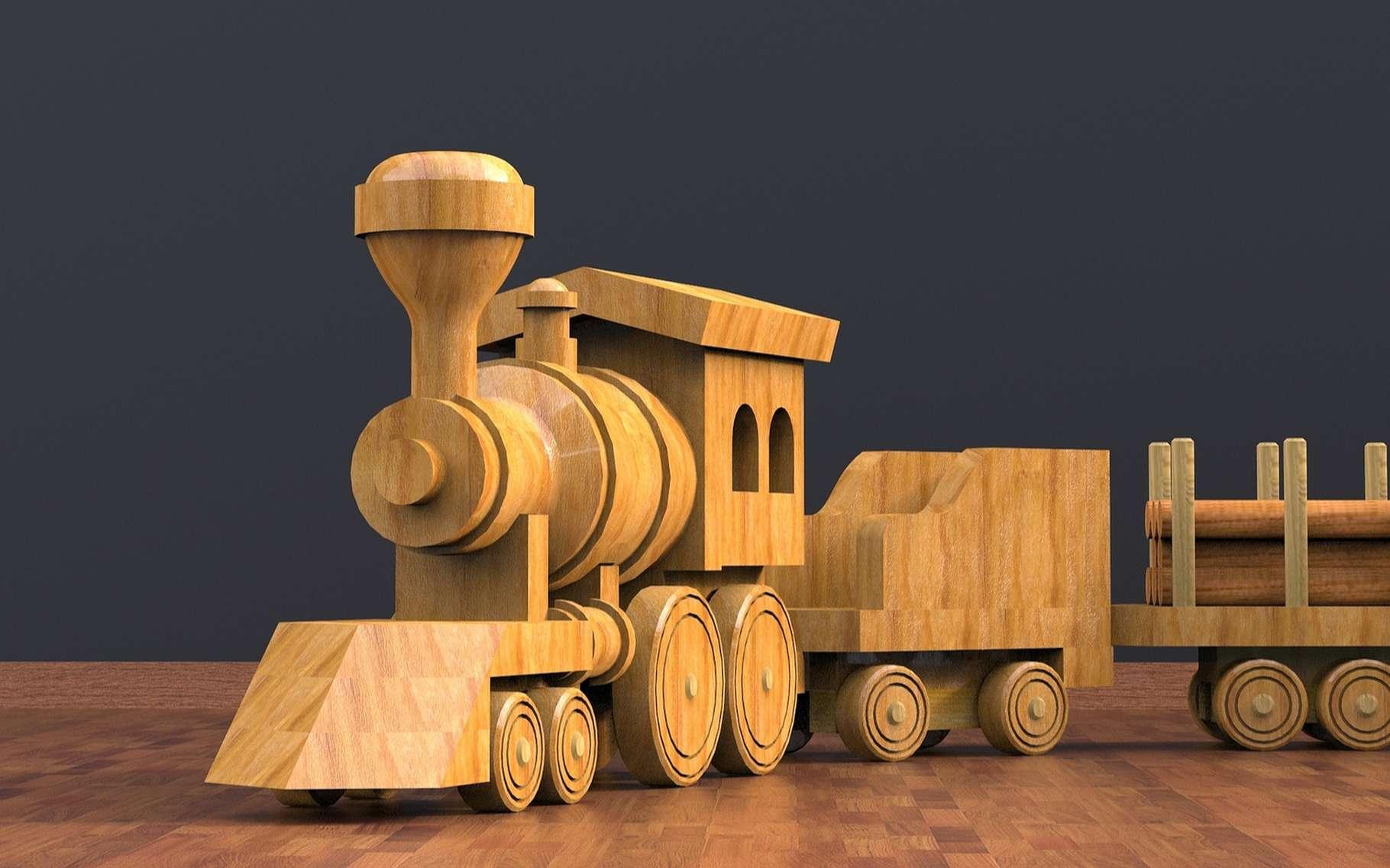 Quels cadeaux écologiques offrir ? Un train en bois peut être une bonne idée mais il y en a plein d'autres ! © kanesuan saksangvirat, Shutterstock