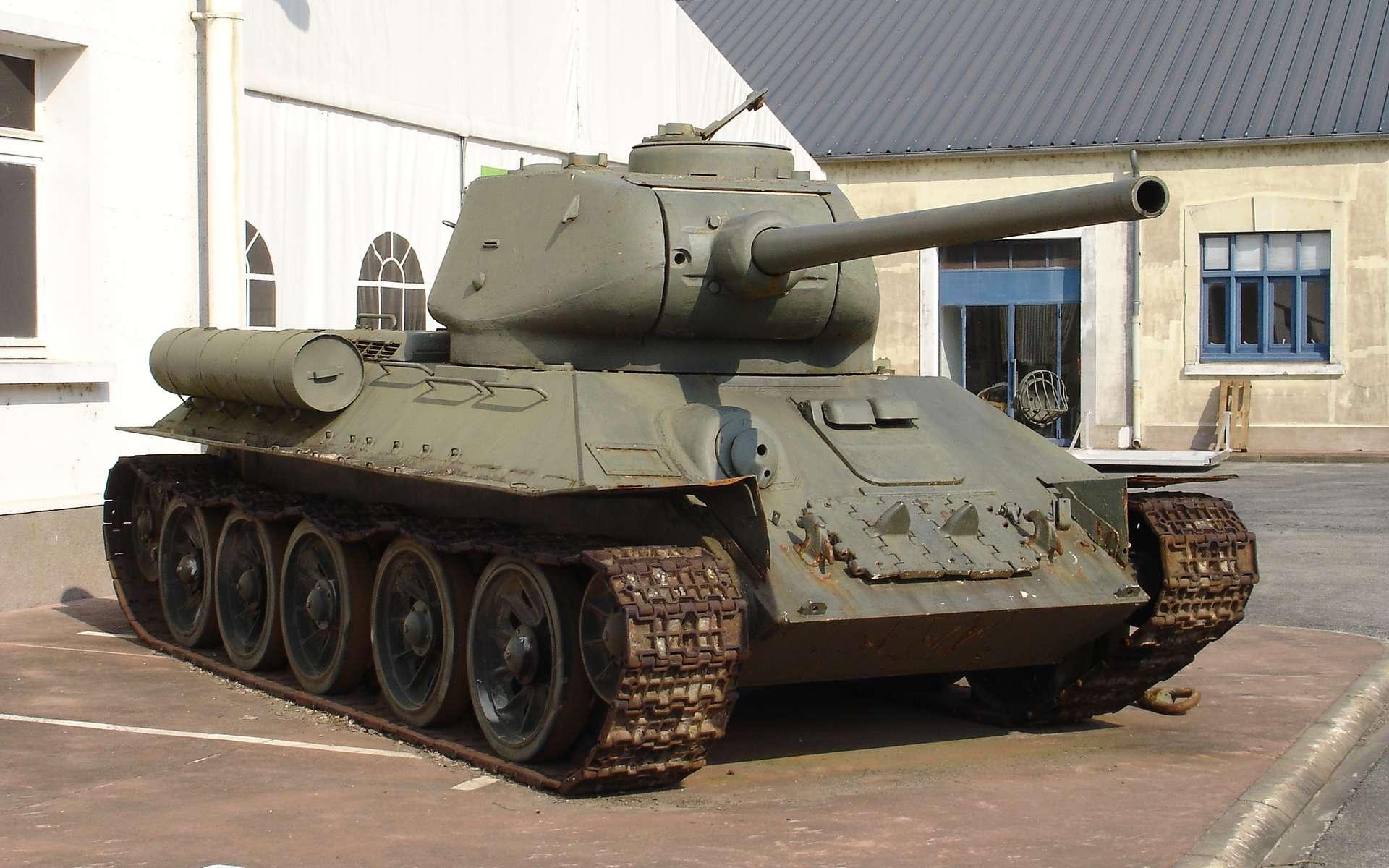 Le célèbre T-34 russe a été l'un des chars de la Seconde Guerre mondiale les plus utilisés. © Antonov14, Wikimedia Commons, CC by-sa 2.5