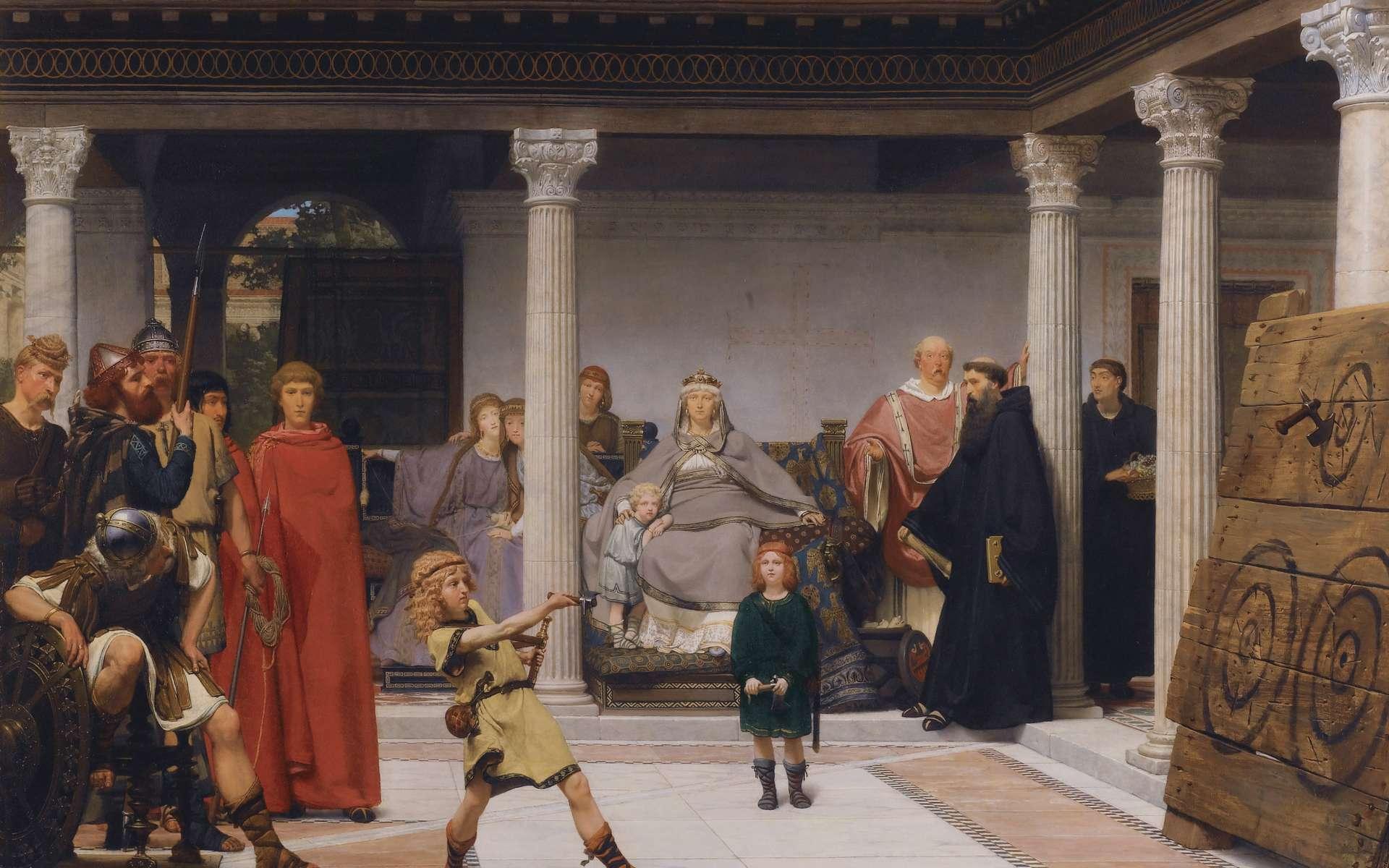 Toile de Lawrence Alma-Tadema représentant l'éducation des enfants de Clovis (1861). © Lawrence Alma-Tadema, Wikimedia Commons, Domaine Public