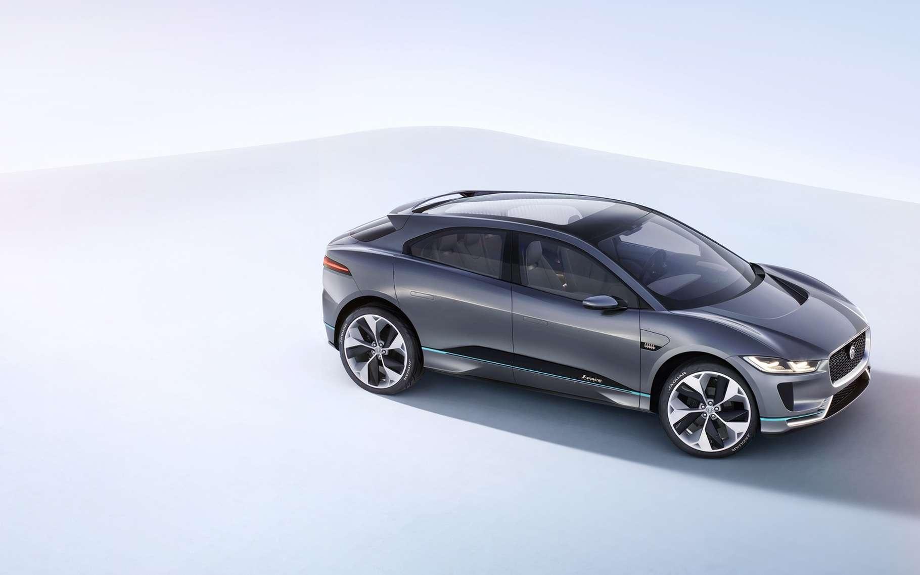 Jaguar se lance sur le marché de la voiture électrique haut de gamme avec un premier modèle appelé I-Pace, dont la sortie est prévue durant le deuxième semestre 2018. © Jaguar