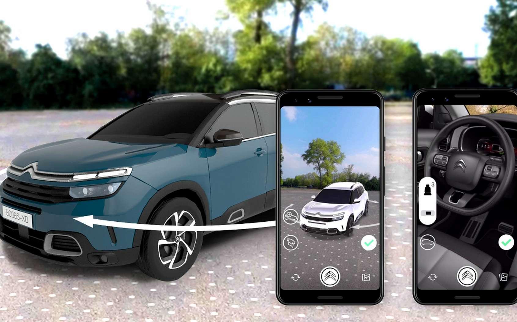Le configurateur en réalité virtuelle de Citroën sur Facebook Messenger. © Citroën