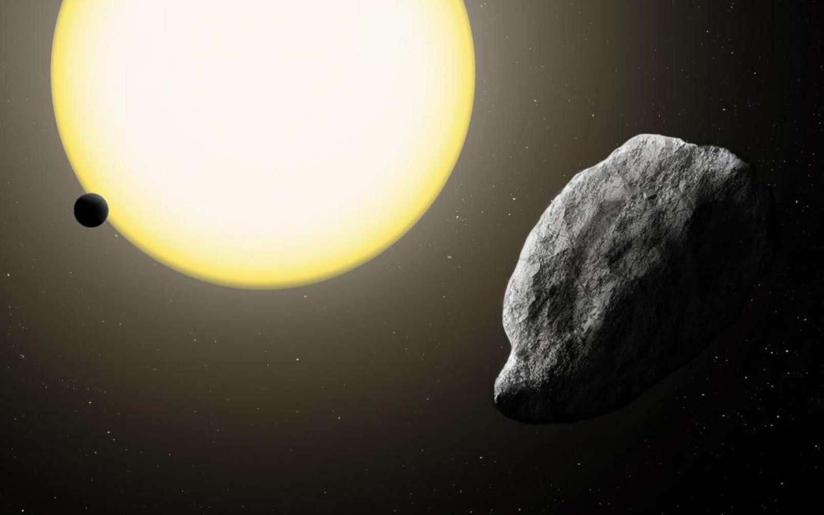 Une vue d'artiste de l'astéroïde 2021 PH27 proche de Mercure. © Katherine Cain Scott Sheppard, Carnegie Institution for Science
