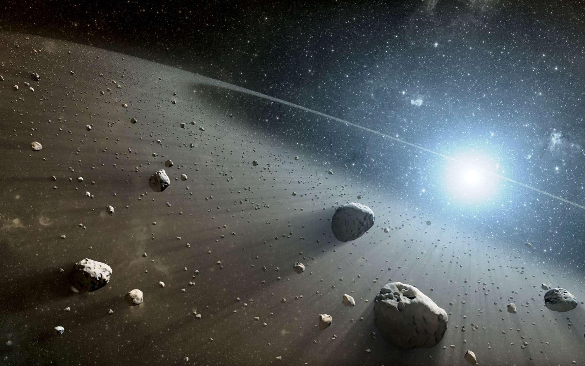 Les astéroïdes et les comètes de la Ceinture de Kuiper sont des vestiges du disque protoplanétaire (dont on voit ici une image d'artiste) où sont nées les planètes il y a environ 4,56 milliards d'années. Dans cette région, les objets sont riches en eau. © Nasa