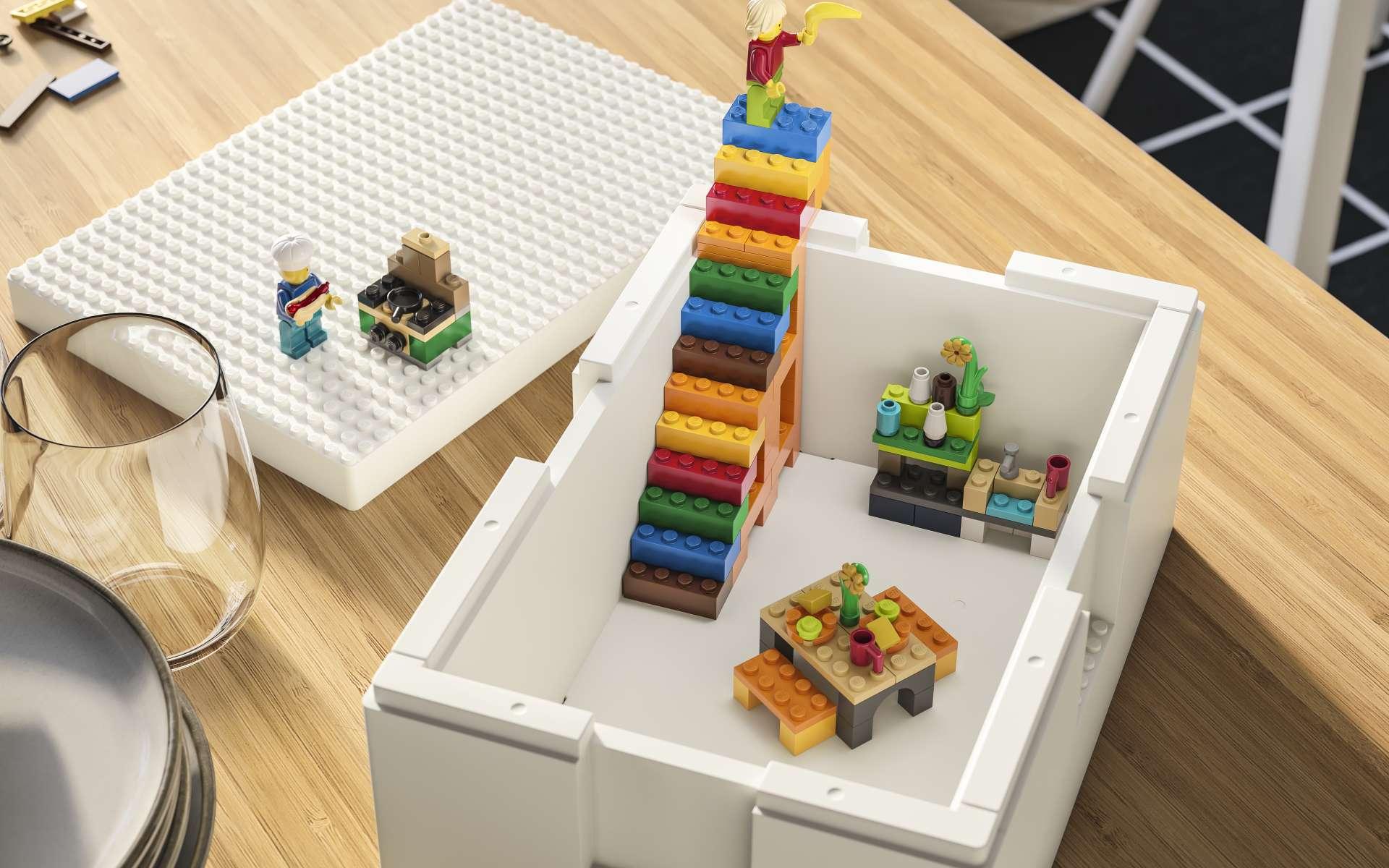 Lego et Ikea s'associent pour proposer un concept de rangement plus ludique. © Image Courtesy of IKEA