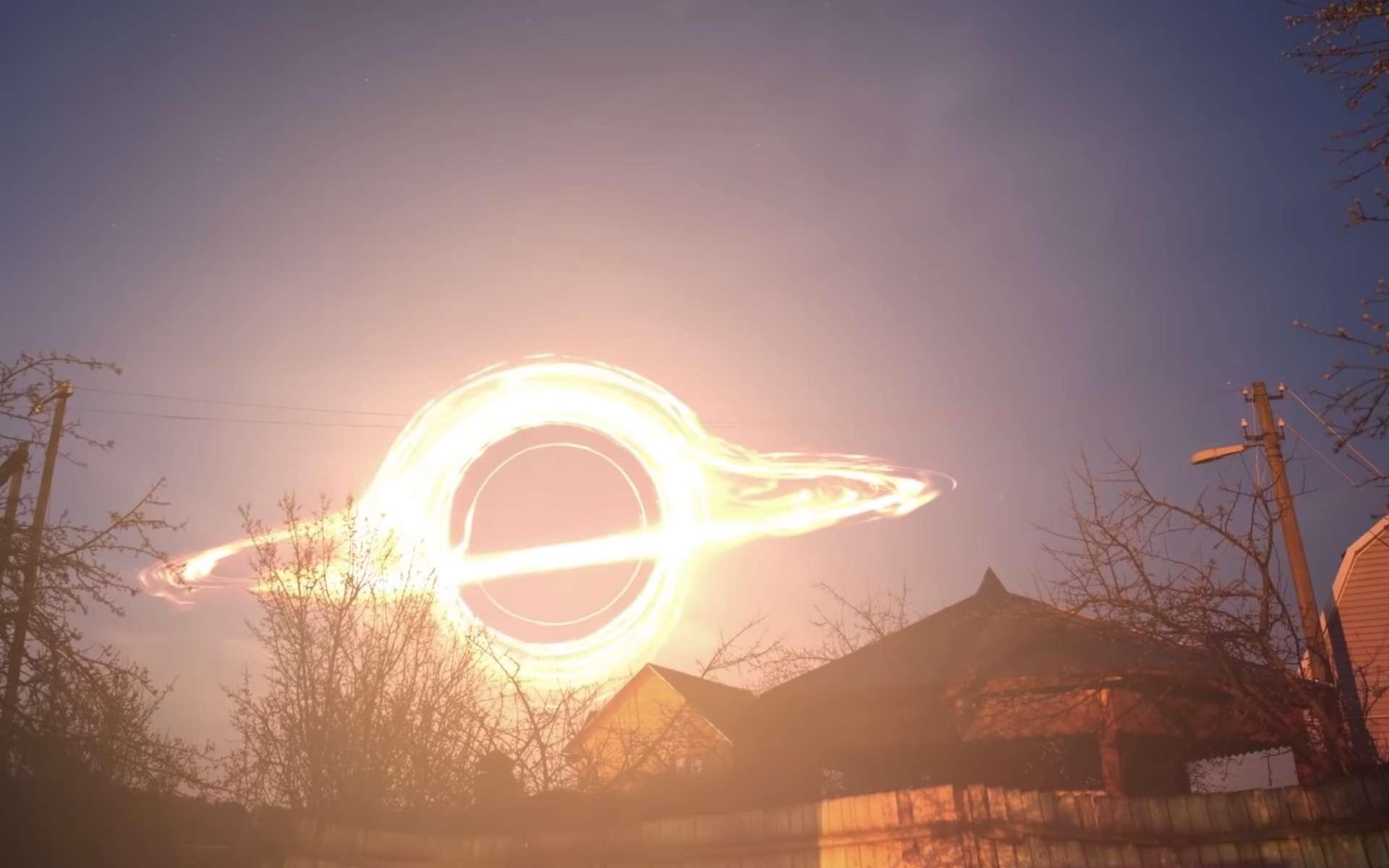 À quoi ressemblerait un trou noir supermassif vu depuis la Terre ? © Roscosmos