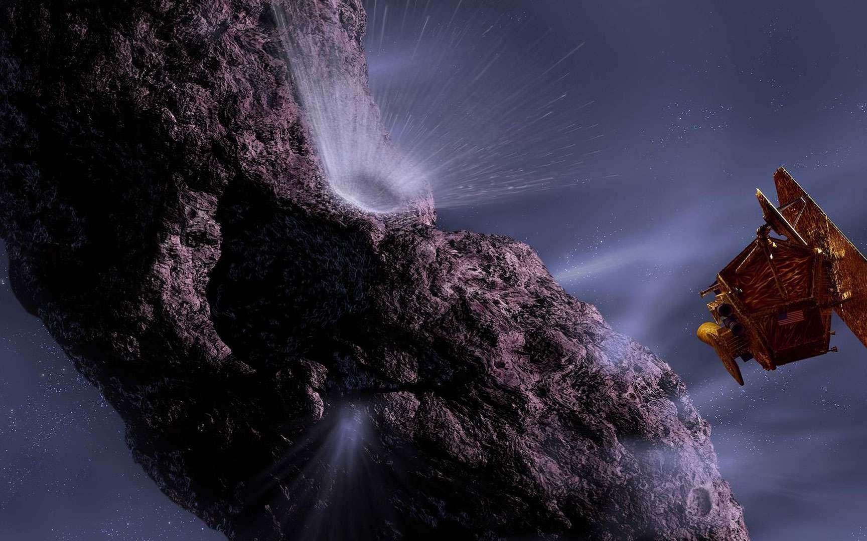 Deep Impact. La sonde deep Impact de la NASA installée dans la coiffe de son lanceur, une fusée Delta II de Boeing.