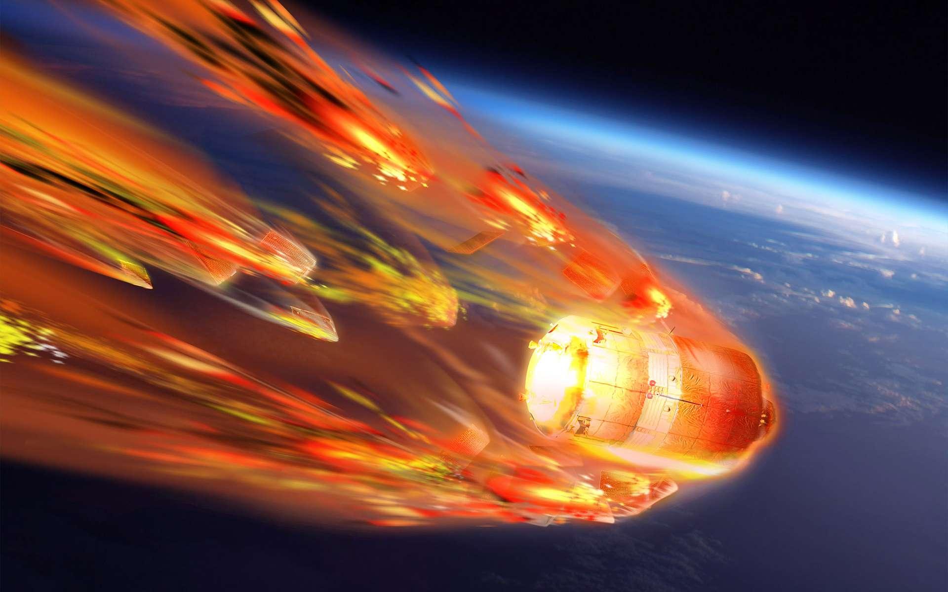 Si l'essTiangong-1 s'est abîmé dans l'océan Pacifique, vraisemblablement près du « point de Nemo ». © ESA