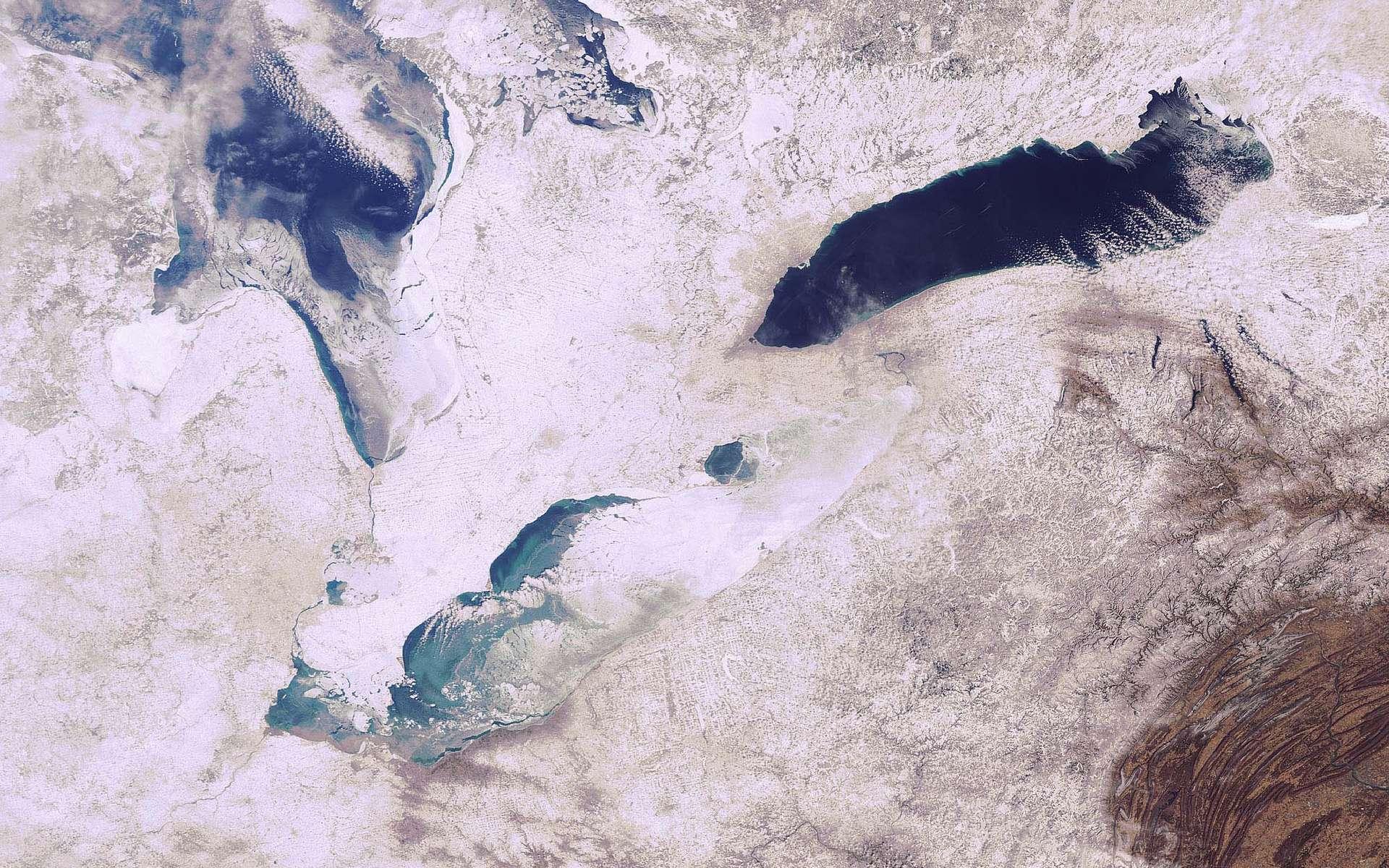 La région des Grands Lacs, vue par Envisat. Crédit Esa
