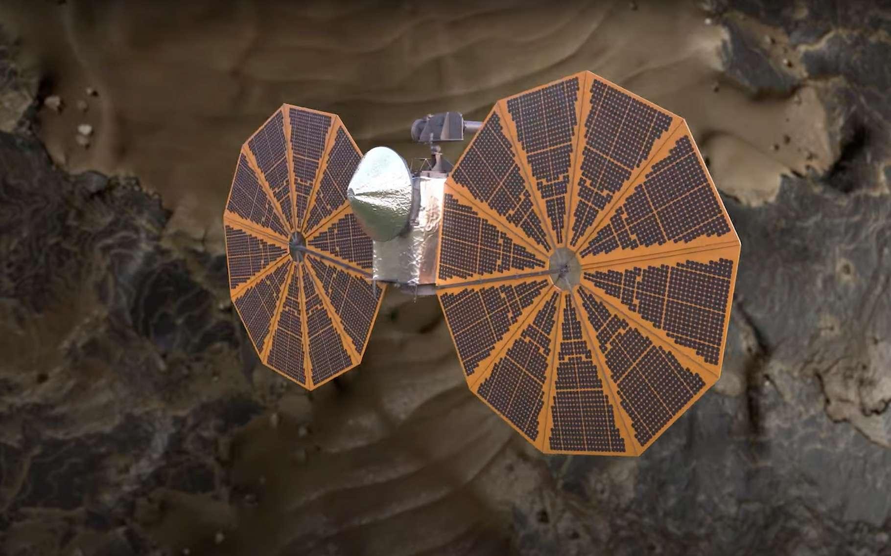 La mission Lucy partira en direction des astéroïdes troyens de Jupiter à l'automne 2021. Elle emportera des messages destinés à nos descendants. © Nasa Goddard