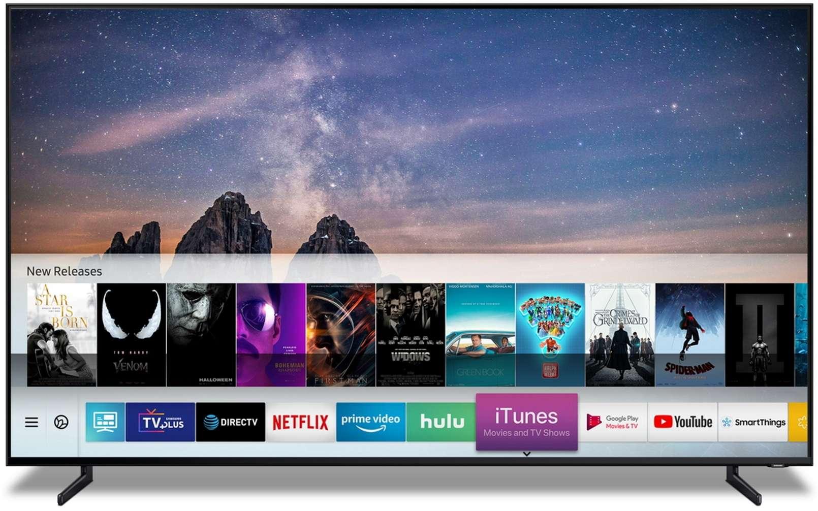 L'arrivée d'iTunes sur des téléviseurs connectés est une première. © Samsung