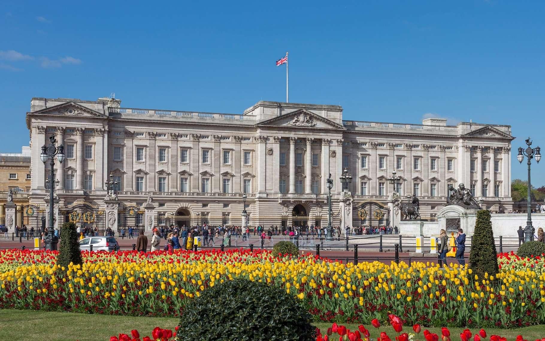 Vue de la façade est de l'immense palais de Buckingham. © Diliff, Wikimedia Commons