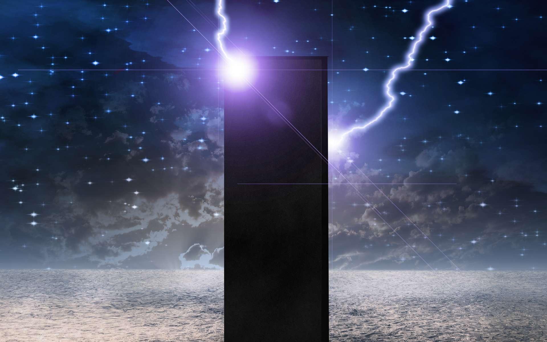 Au lever du jour lunaire, le monolithe lance un signal très puissant. © rolffimages, Adobe Stock