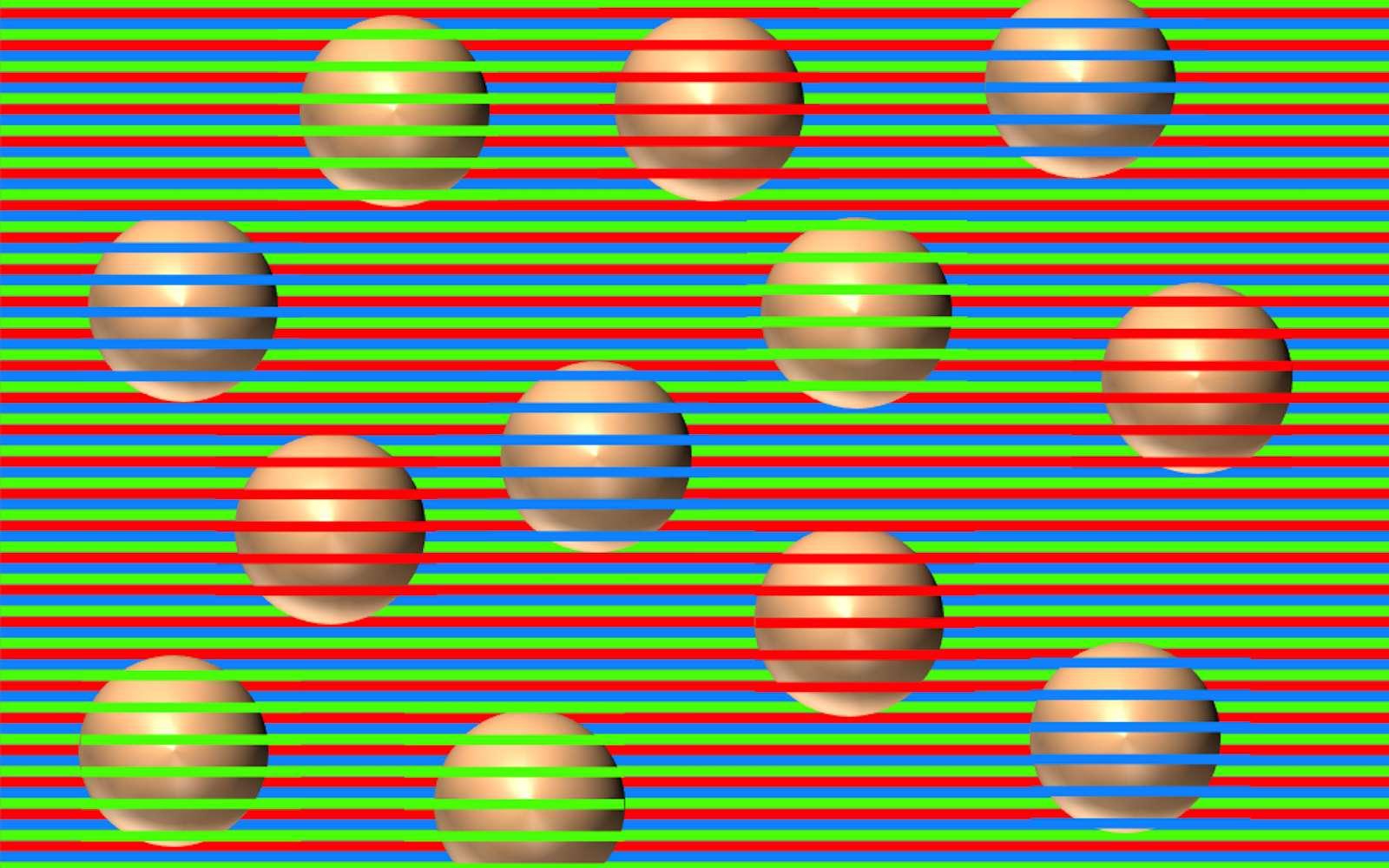 De quelle couleur sont ces boules ? Cette illusion d'optique...