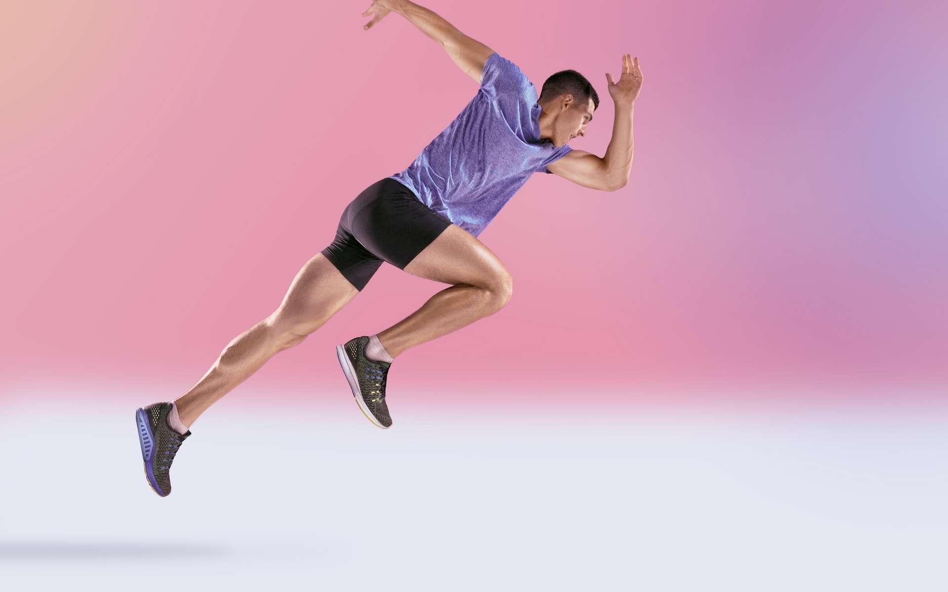 Un exosquelette sur ressort pour courir aussi vite qu'un vélo. © master1305, Adobe Stock