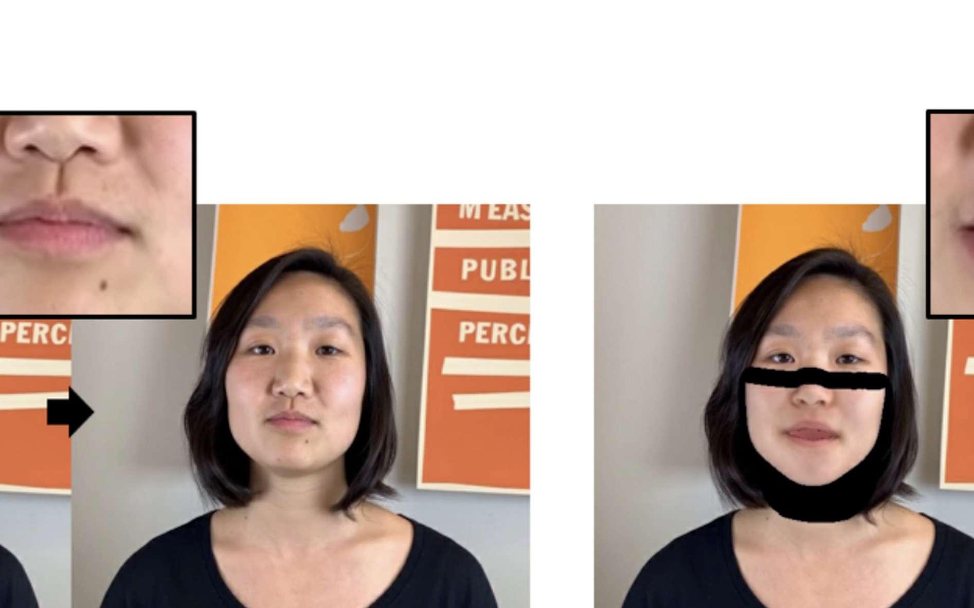 L'IA détecte les éléments clés d'une séquence vidéo et modifie les paroles d'une personne. © DR