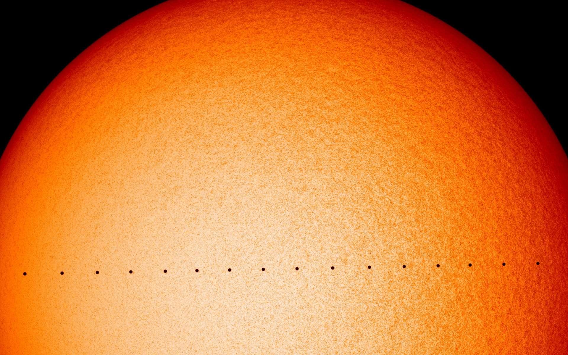 Mercure devant le Soleil le 11 novembre 2019. © Nasa, SDO