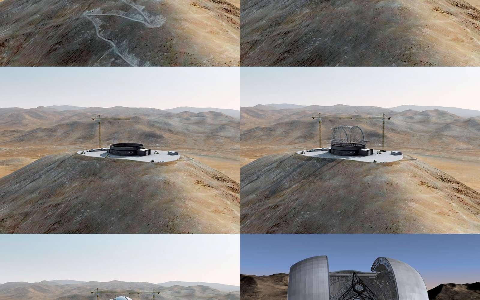 L'E-ELT sera construit au Chil et devrait être opérationnel vers 2020. Crédit ESO