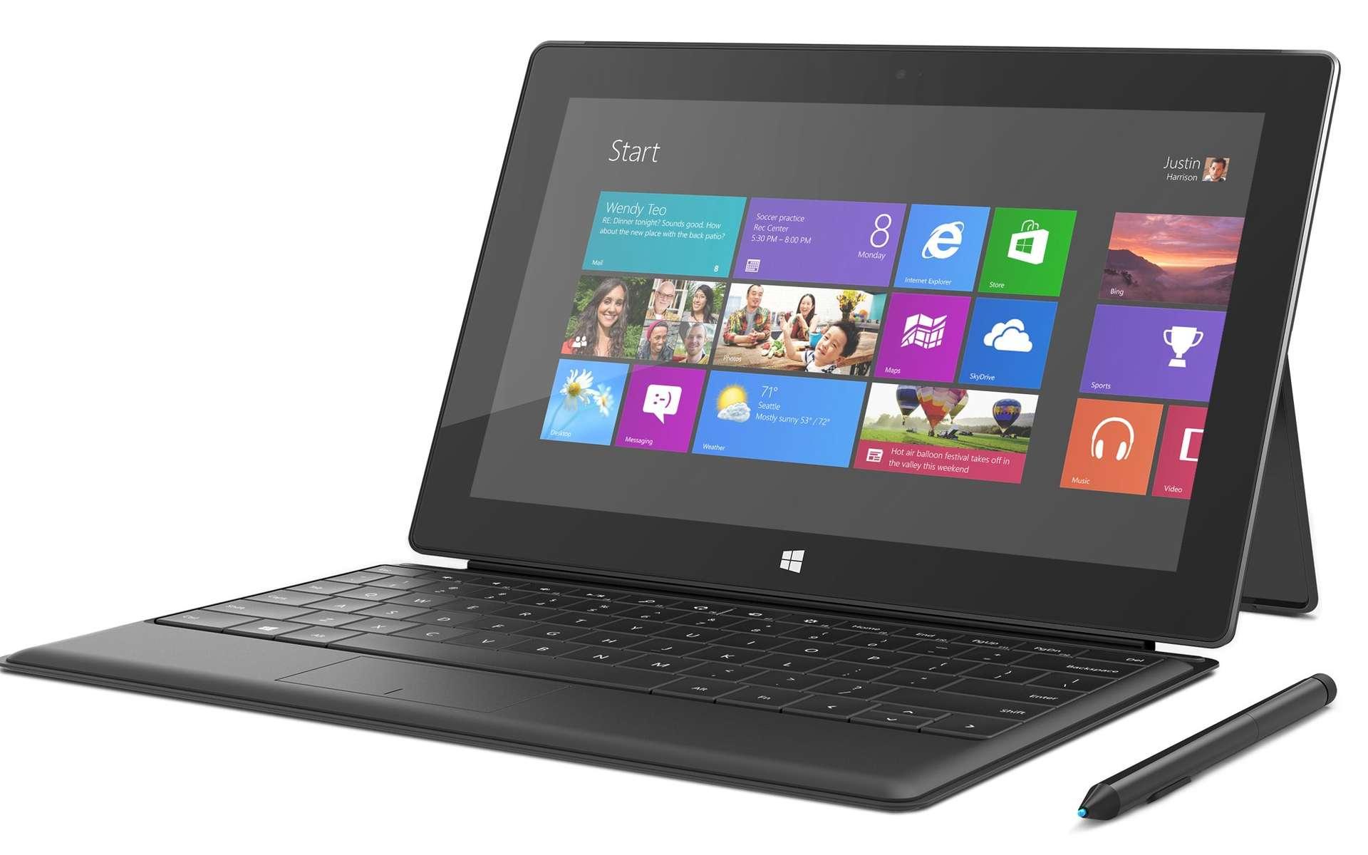 Une tablette avec un clavier optionnel : c'est le concept de la Surface. © Microsoft