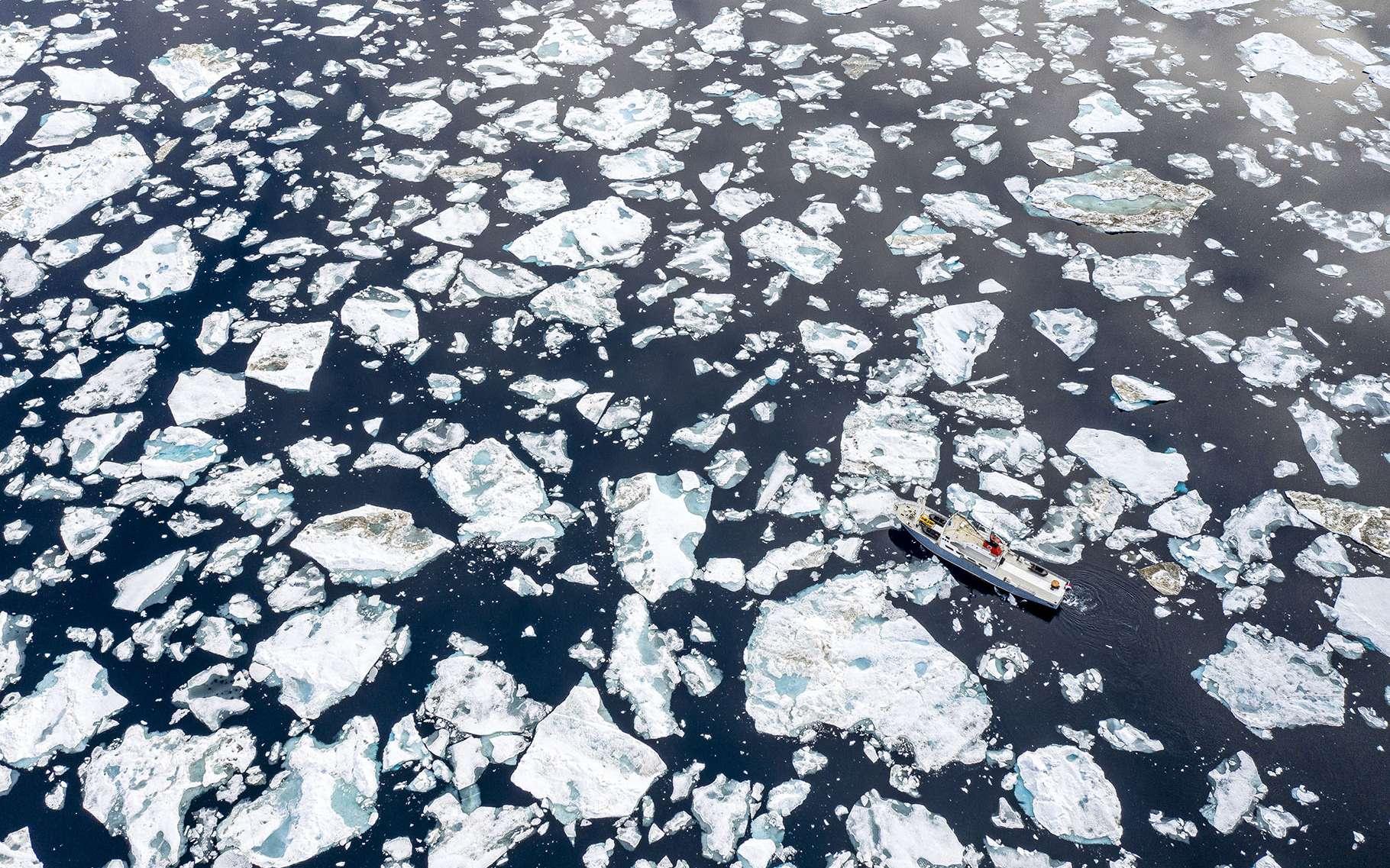 La fonte des glaces au Svalbard, vue par Florian Ledoux. © Florian Ledoux