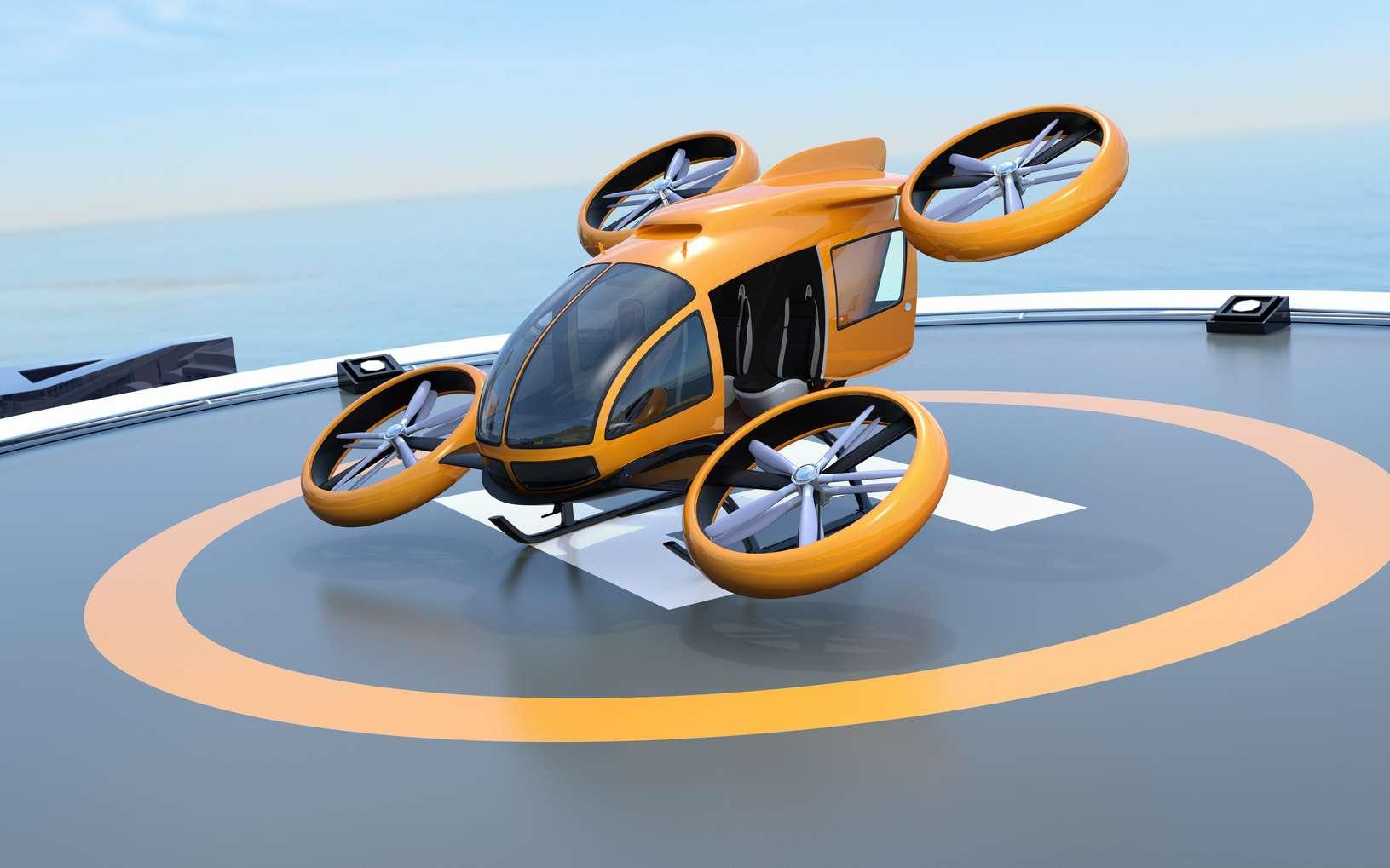 L'arrivée des premiers services de taxis volants est annoncée pour le courant de la prochaine décennie. © Chesky, Fotolia