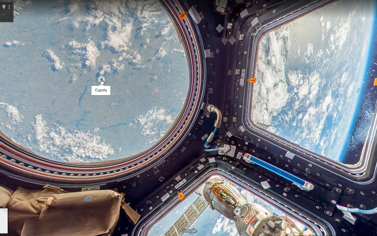 Visitez la Station spatiale sur Google Street View grâce à Thomas Pesquet. C'est la première fois que des images Street View sont prises au-delà de la Terre. © Google
