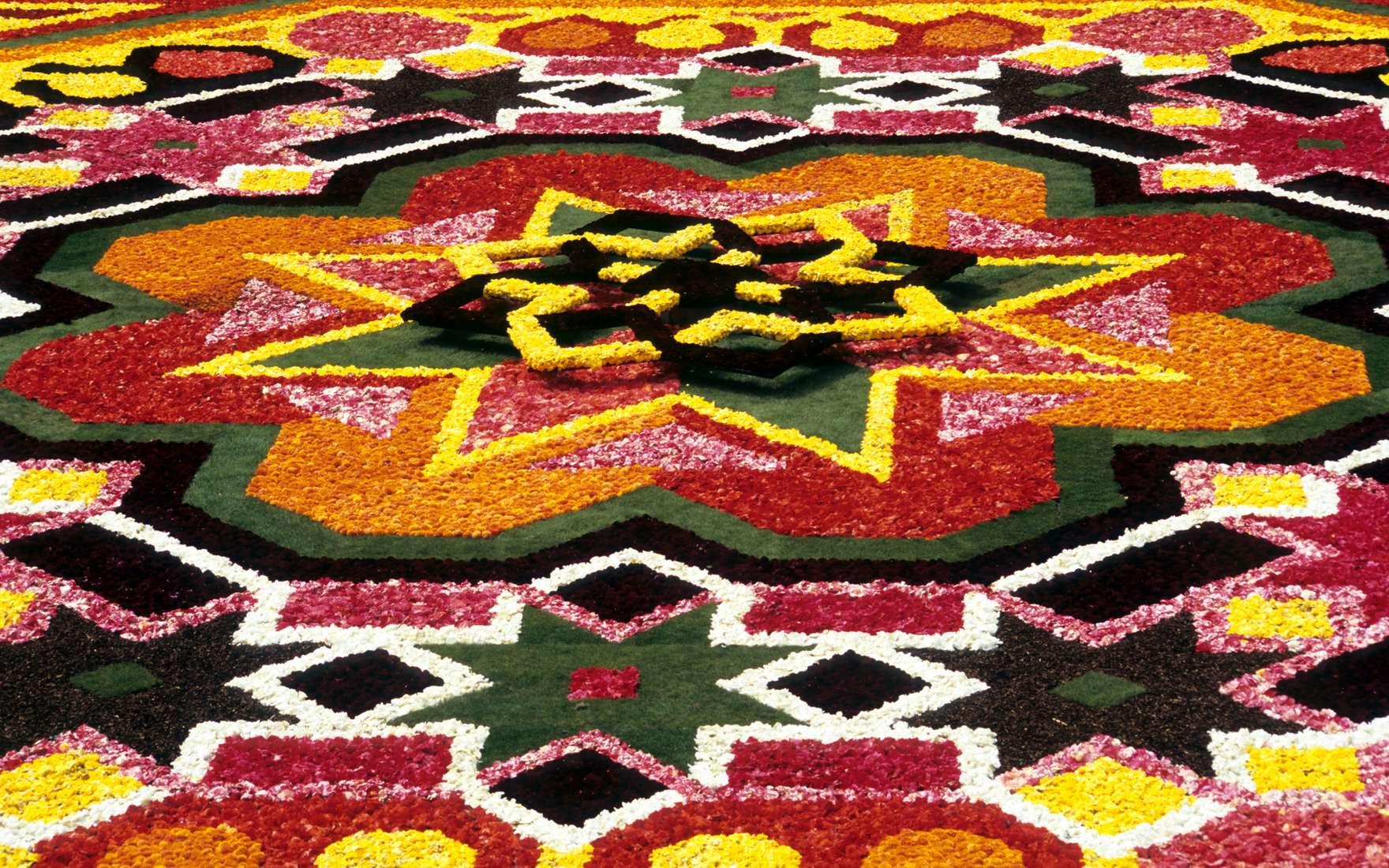 Le tapis de fleurs à Bruxelles sur la Grand-Place, un décor unique renouvelé tous les deux ans. © Alison Cornford, Fotolia