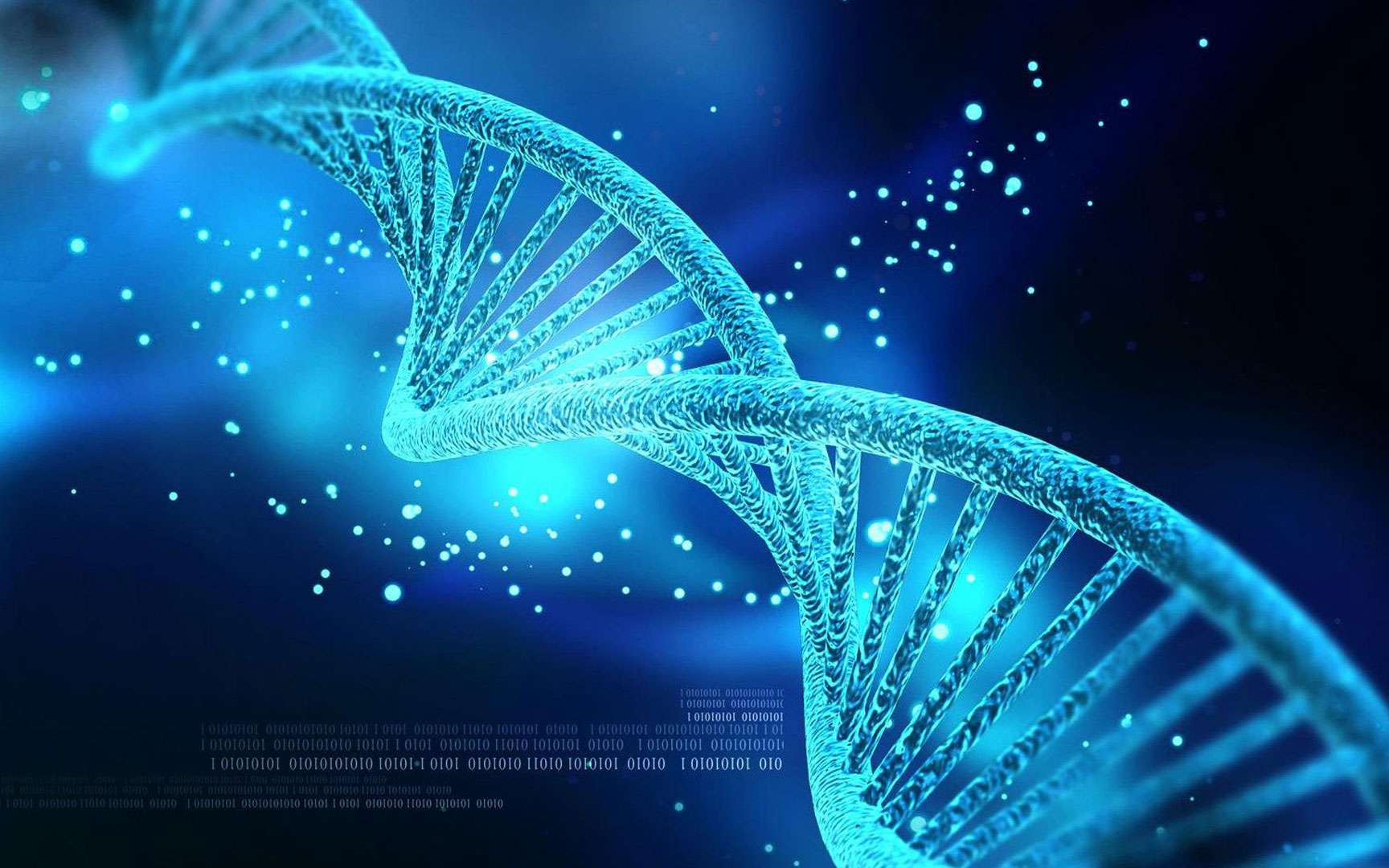La découverte de l'ADN, cette précieuse molécule. La molécule d'ADN renferme l'information génétique, c'est-à-dire le génome. Sa structure a été déterminée en 1953 par James Watson et Francis Crick, qui auront le prix Nobel de médecine neuf ans plus tard. © Creations, Shutterstock