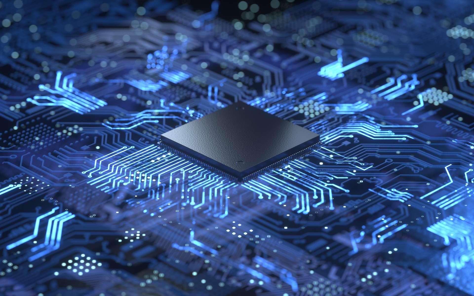 Intel travaille sur la cryptographie post-quantique compatible avec les objets connectés. © Shuo, Adobe Stock