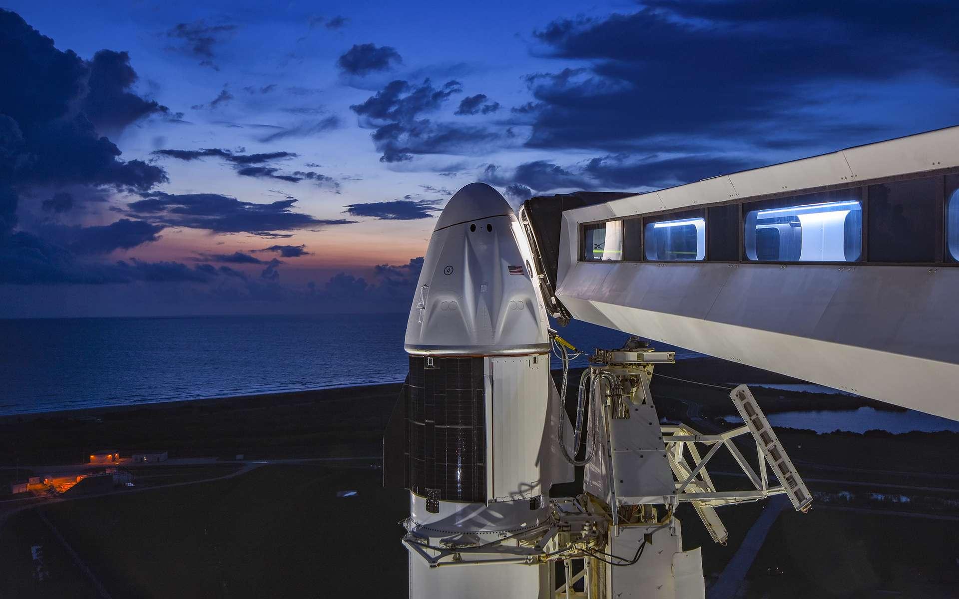 Le Crew Dragon de la mission Inspiration4. © SpaceX