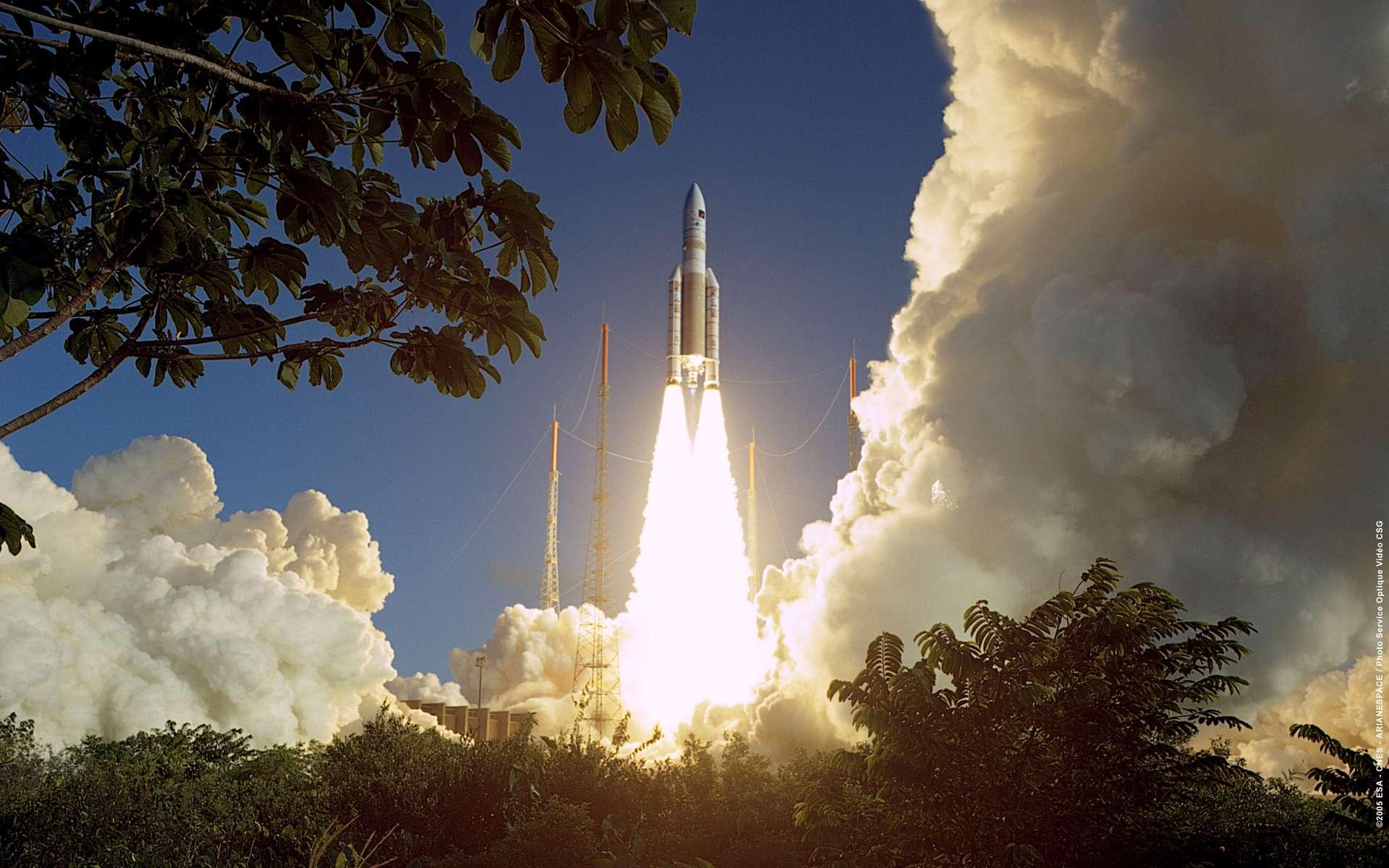 Lancement Ariane 5 à Kourou. ©ESA