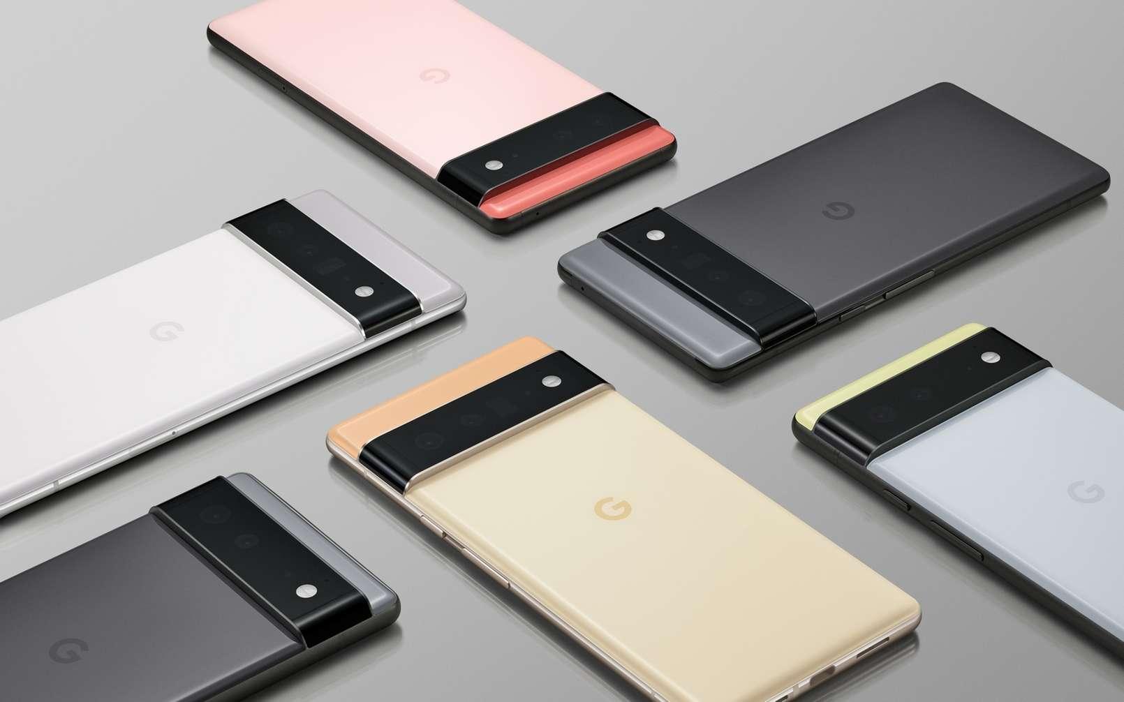 Les Google Pixel 6 et Pixel 6 Pro seront déclinés en plusieurs coloris. Espérons que le marché français y aura droit cette année ! © Google