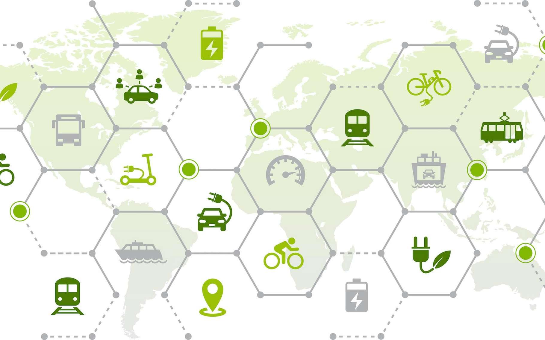 Pour rendre la mobilité plus durable, il existe déjà plusieurs solutions. Et d'autres restent à imaginer. © j-mel, Adobe Stock