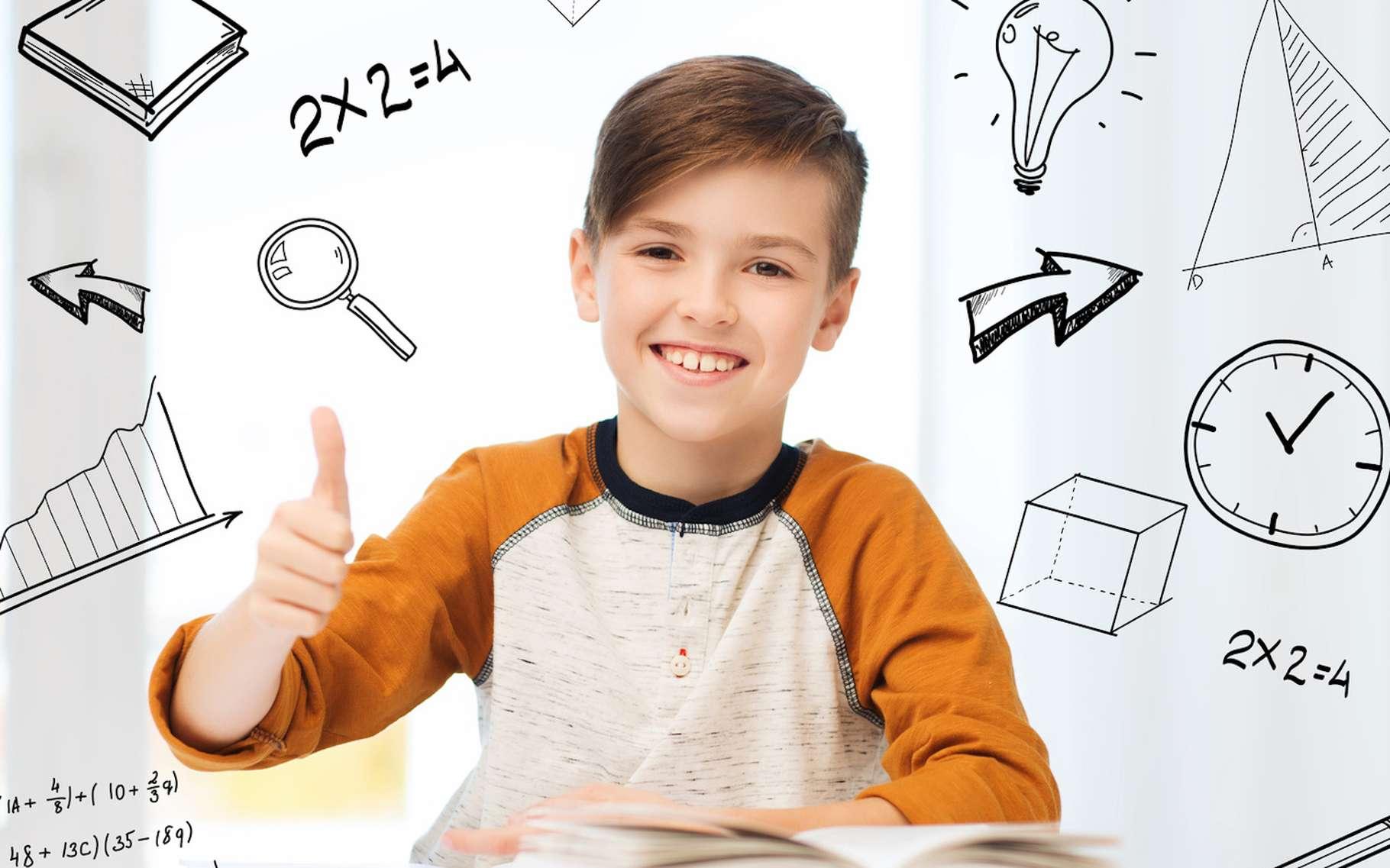 Certains diront que pour devenir meilleur en mathématiques, il suffit d'aimer les maths! © Syda Productions, Fotolia