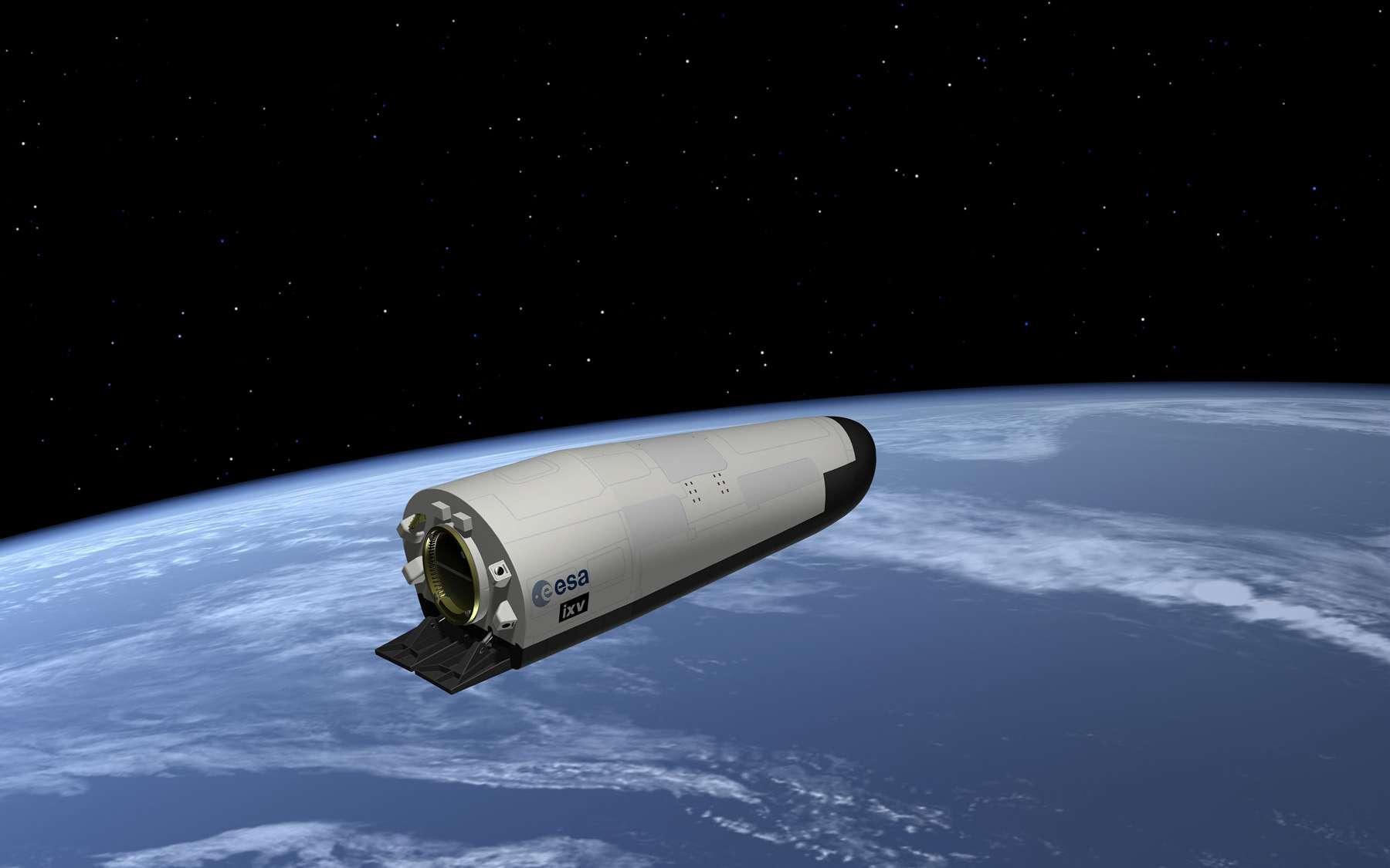L'IXV est un véhicule de retour d'orbite qui fait suite au démonstrateur de rentrée balistique ARD lancé en 1998. Il réutilise une partie des études réalisées pour l'avion spatial Hermès. © Esa, J. Huart