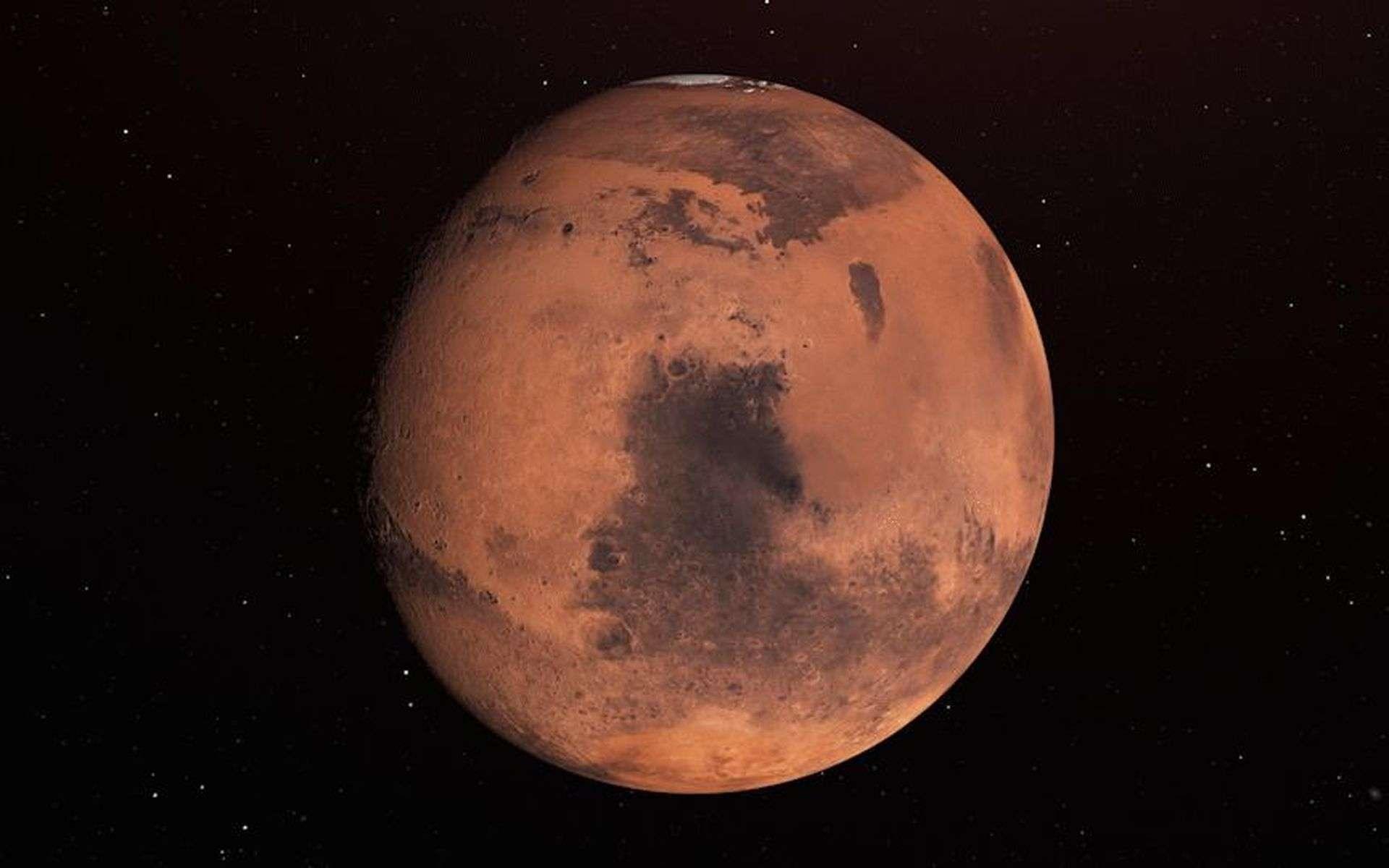 Mars : de la glace détectée à 2,5 cm seulement sous la surface