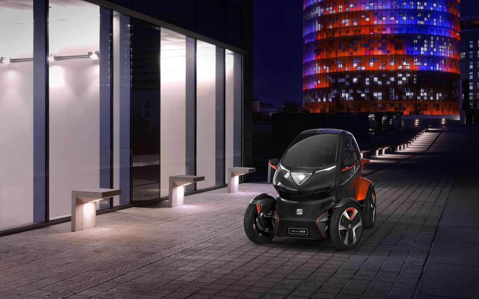 La Seat Minimó emprunte à l'esprit de la Renault Twizy. © Seat