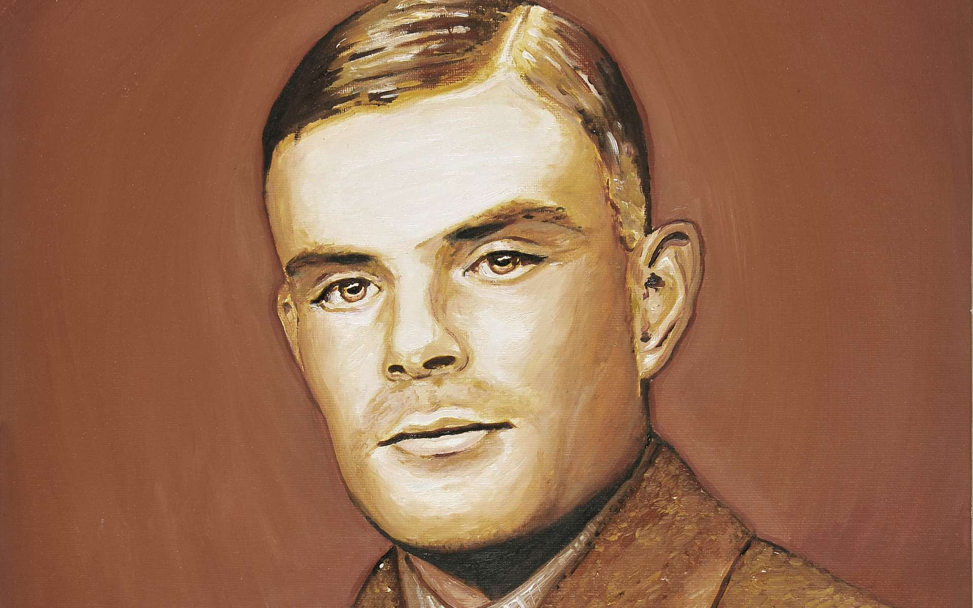 Portrait d'Alan Turing, à qui l'on doit notamment le test et la machine qui portent son nom. © Daniel Rogers