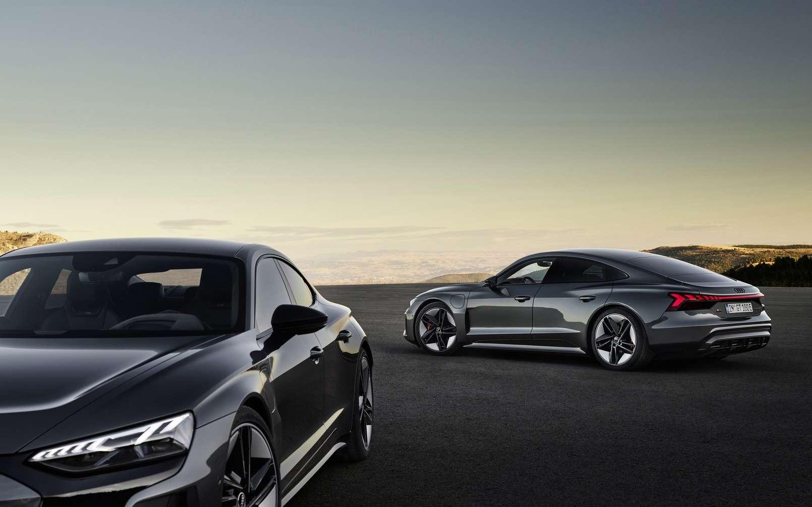 L'Audi e-Tron GT Quattro est propulsée par la technologie de la Porsche Taycan. © Audi