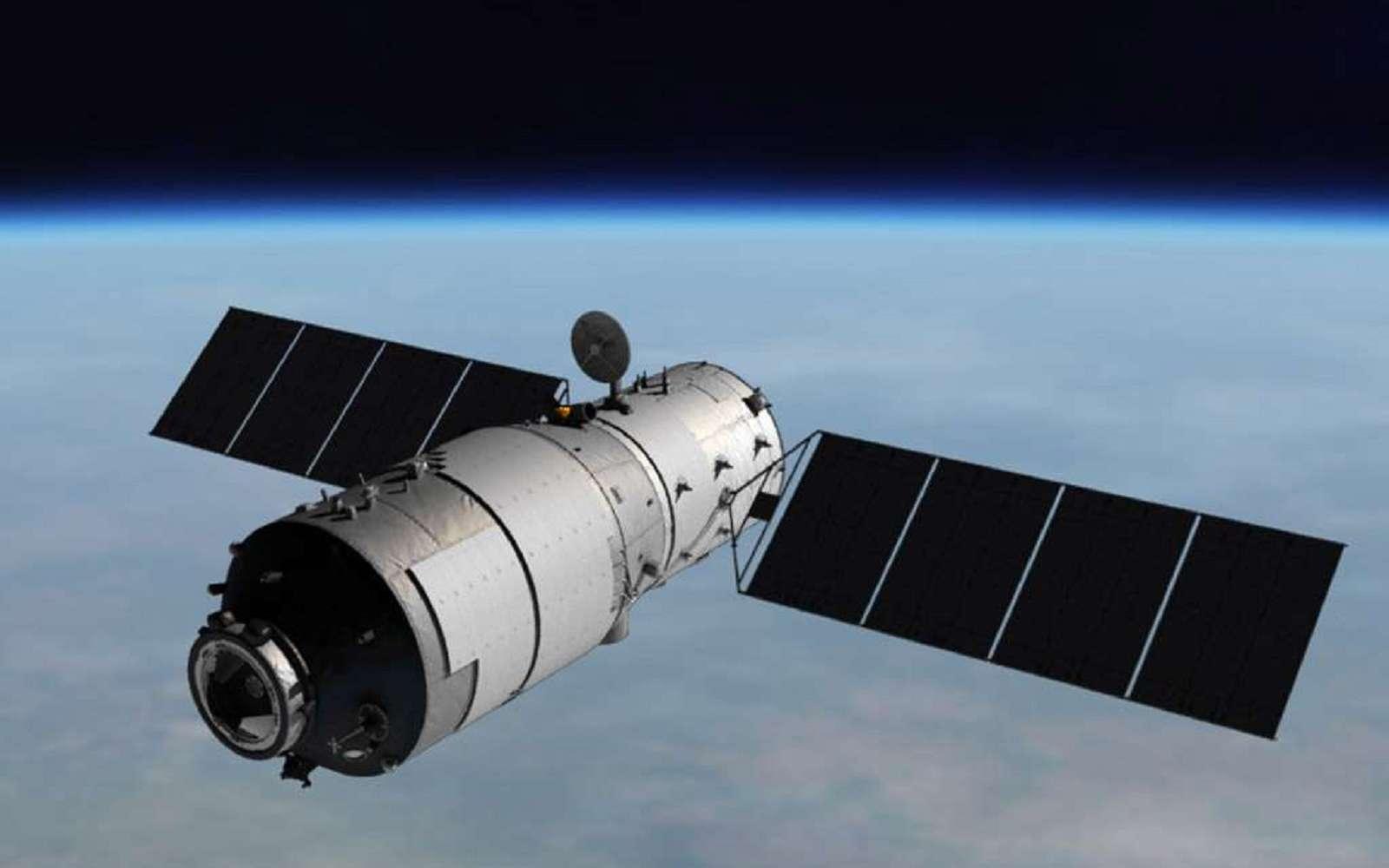 La station spatiale Tiangong-1 est la première station placée en orbite par la Chine. Sa mission consiste à préparer la voie pour de futures stations habitées, Tiangong-2 puis Tiangong-3. © CNSA