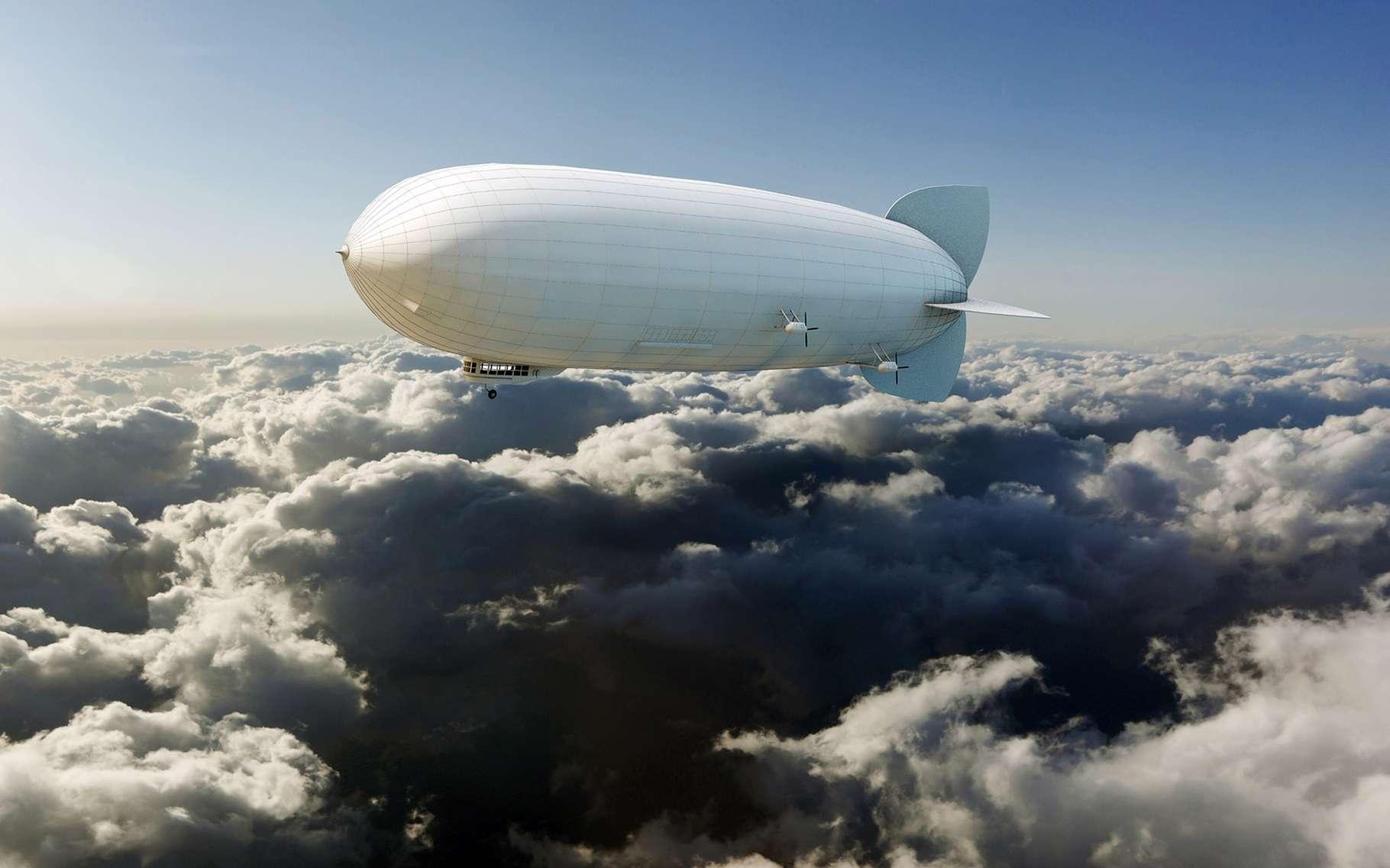 Les dirigeables sont plus légers que l'air, ils peuvent donc flotter dans les airs. © andrea crisante, Shutterstock