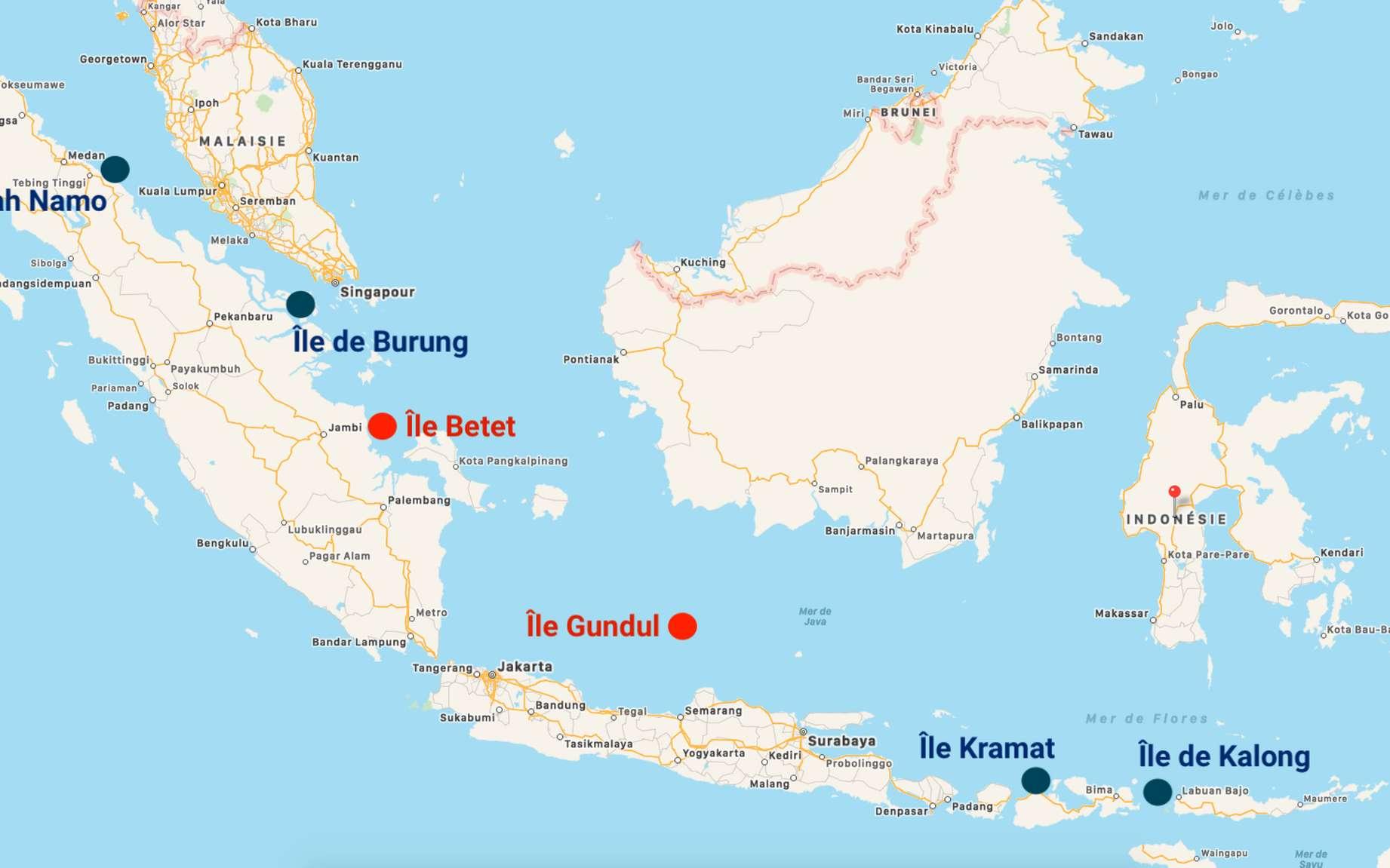 Deux îles de Sumatra définitivement englouties par les eaux