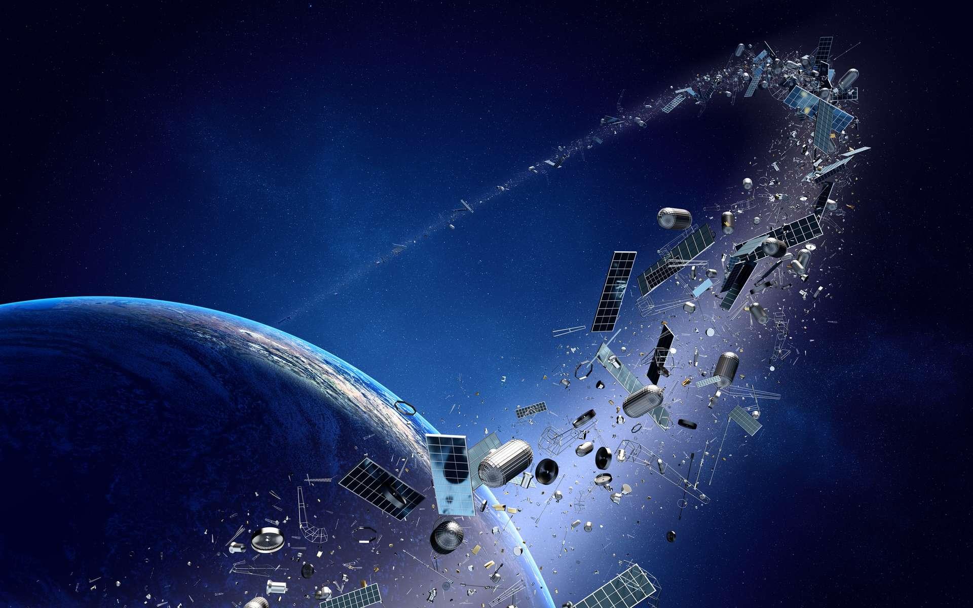 Combien de débris spatiaux orbitent autour de la Terre ? © Johan Swanepoel, Adobe Stock
