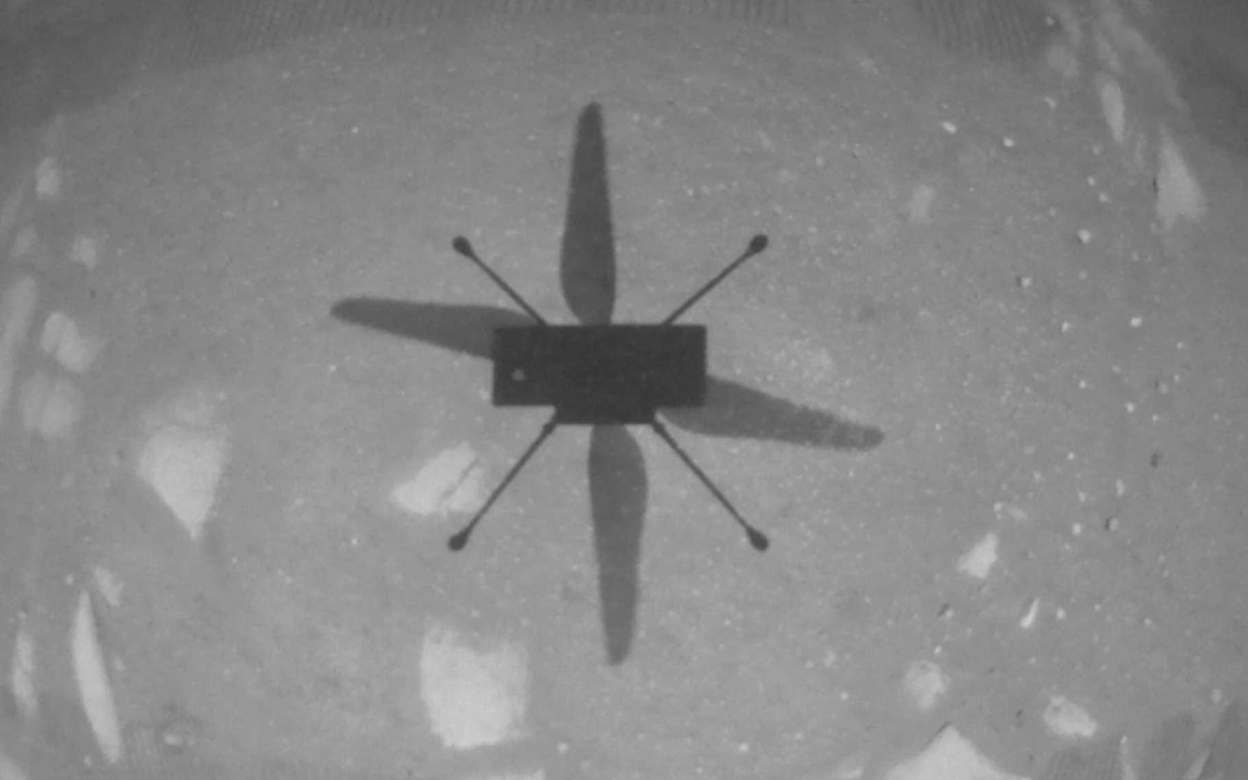 Photo prise par la caméra de l'hélicoptère martien Ingenuity. © Nasa, JPL-Caltech