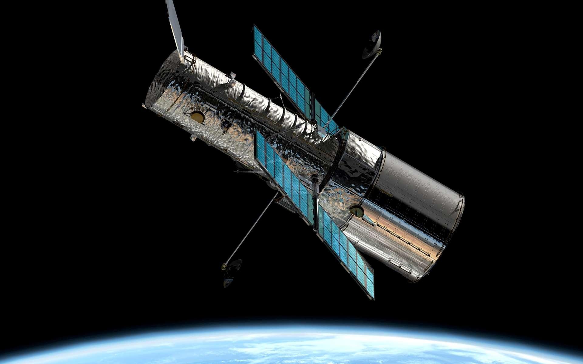 Une vue du télescope Hubble en orbite, l'un des instruments utilisés pour déterminer la nature de l'énergie noire en étudiant les supernovae SN Ia © Nasa