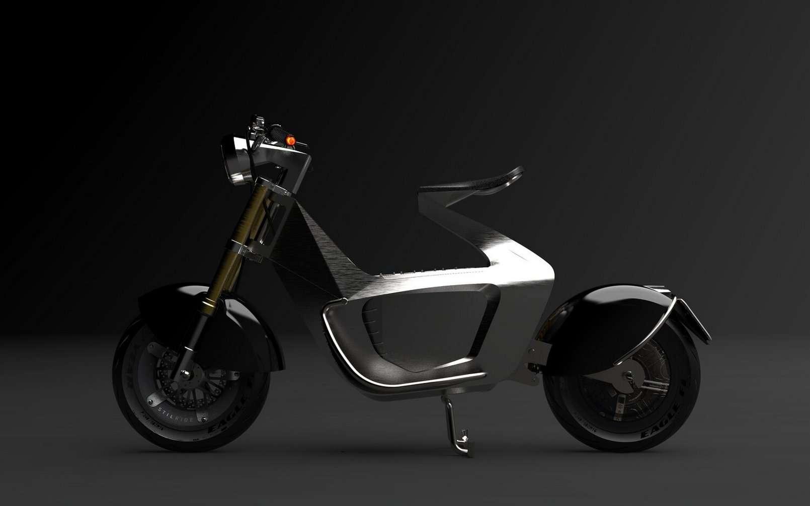 Le prototype de scooter électrique de Stilride. © Stilride