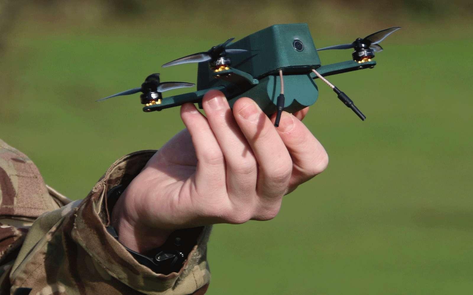 L'armée britannique a reçu 30 exemplaires du nanodrone Bug dont la portée est de 2 kilomètres © UAVTEK